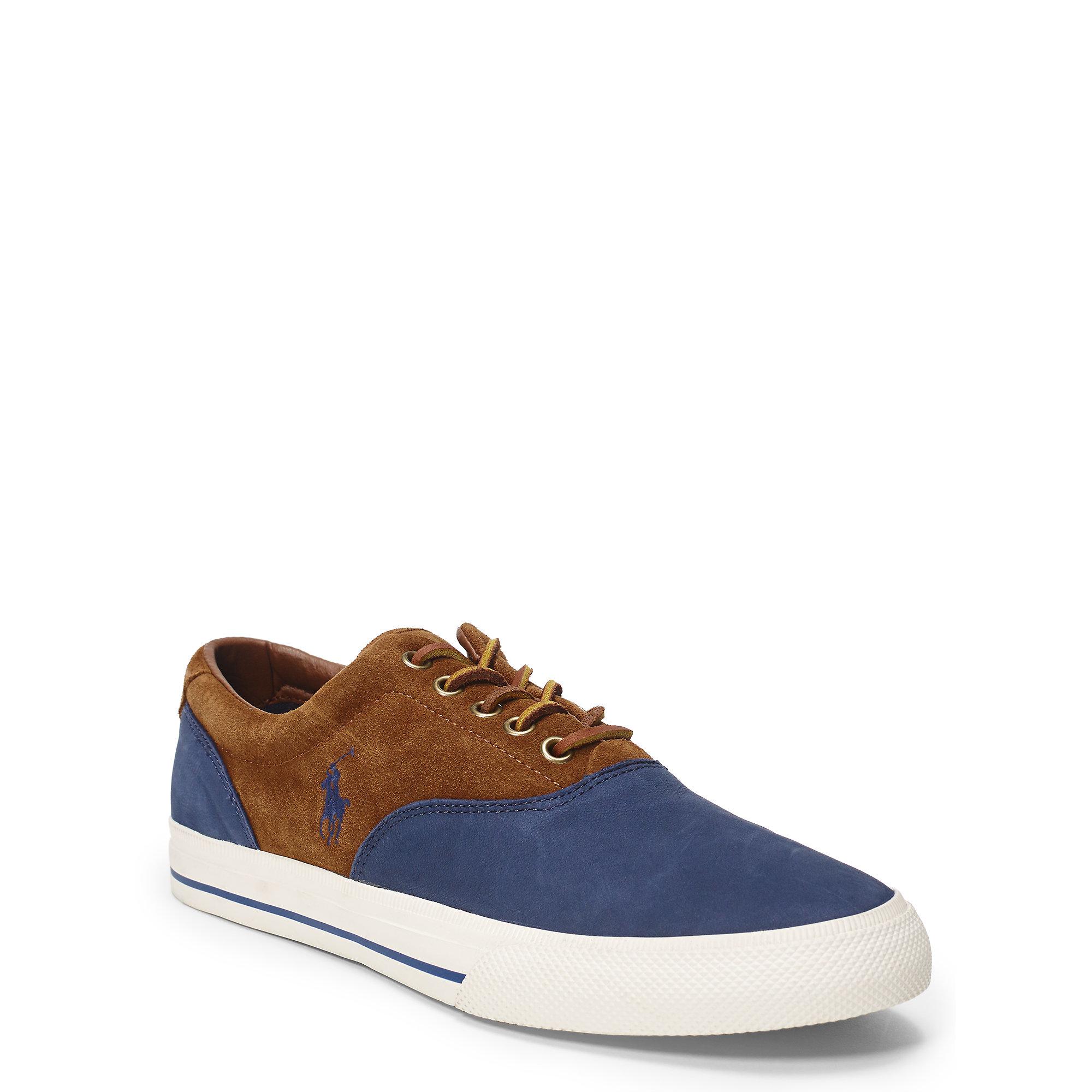 polo ralph lauren vaughn saddle suede sneaker in blue for men lyst. Black Bedroom Furniture Sets. Home Design Ideas