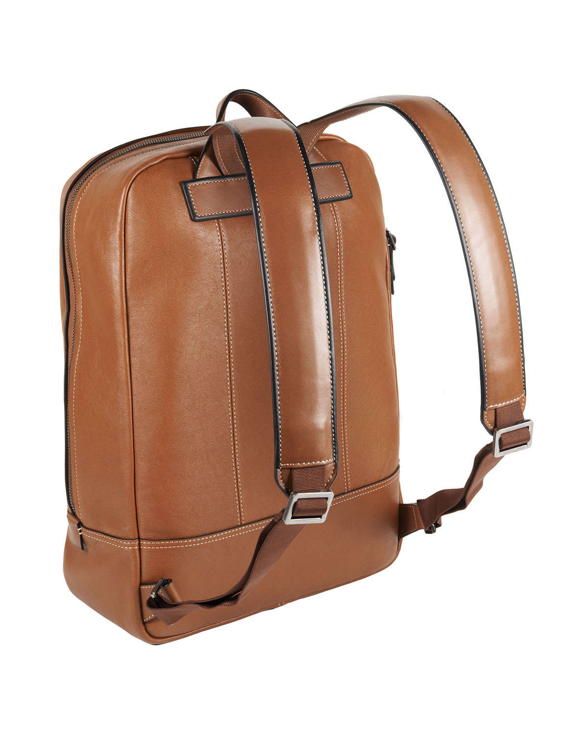 Tumi Mission Tan Bryant Leather Backpack in Brown for Men | Lyst