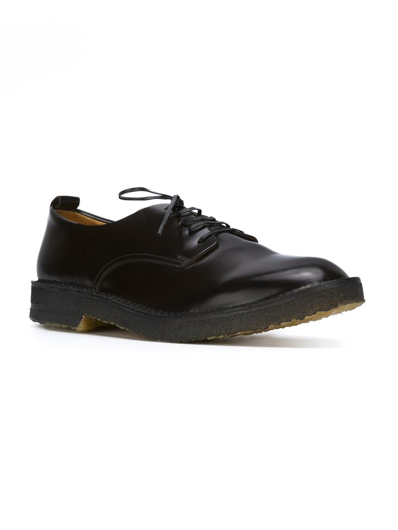 Buttero Rubber Sole Derby Shoes in Brown for Men