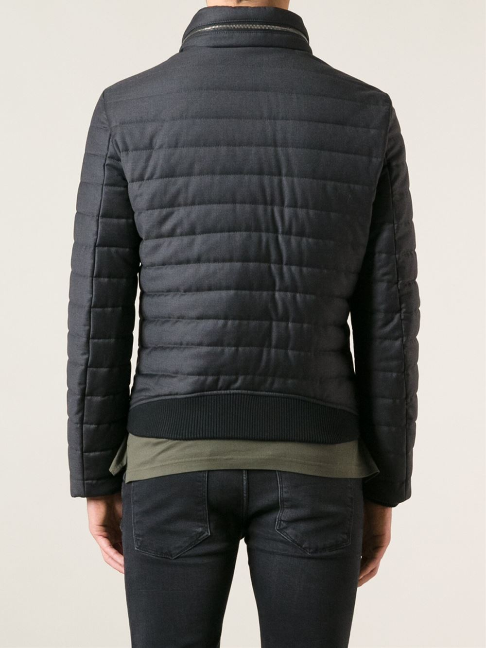 Lyst Emporio Armani Quilted Puffer Jacket In Black For Men