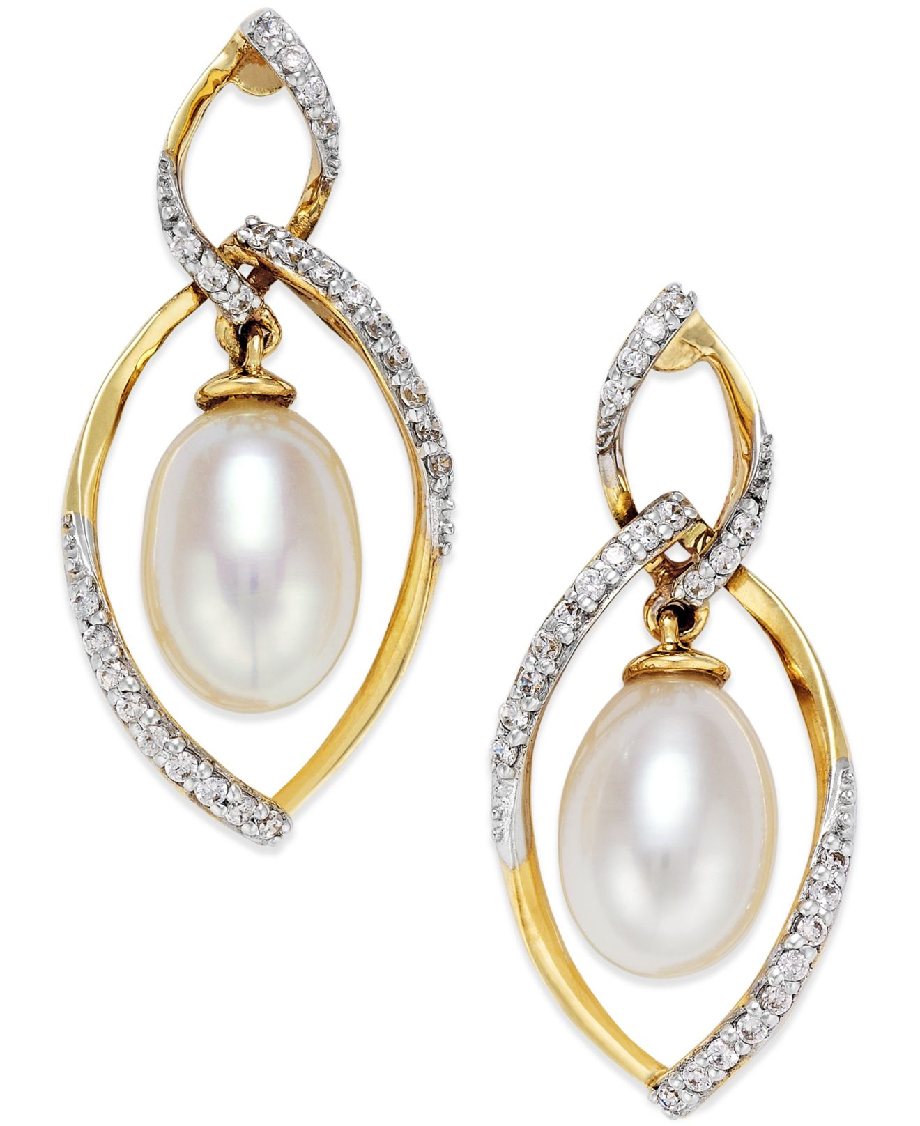 macy s cultured freshwater pearl 7mm and 1 4 ct