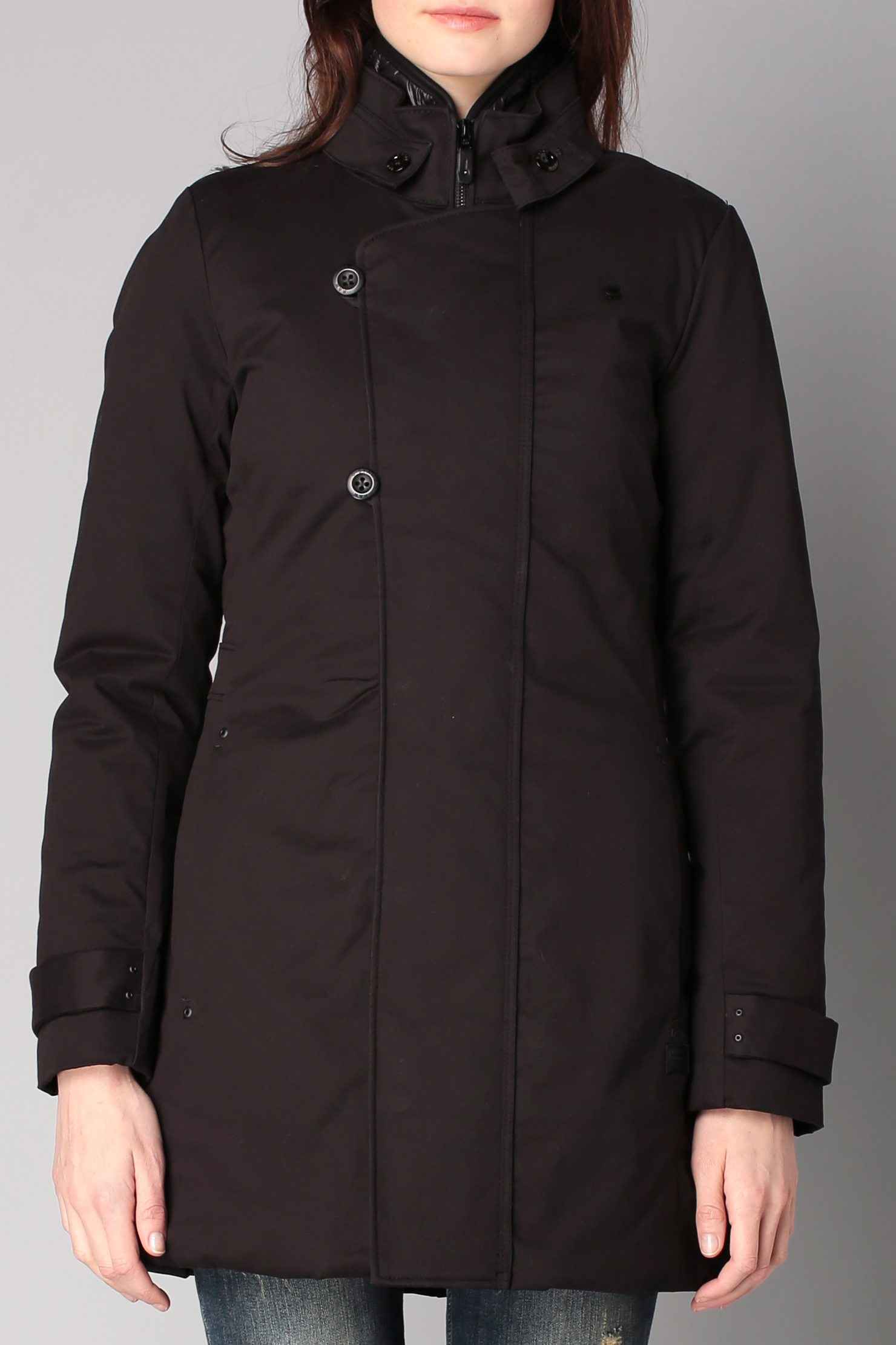 g star raw trench parka in black lyst. Black Bedroom Furniture Sets. Home Design Ideas
