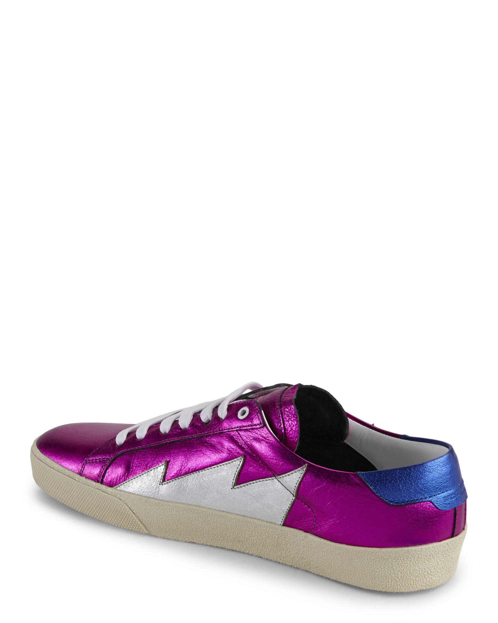 saint laurent court classic sneakers in purple lyst. Black Bedroom Furniture Sets. Home Design Ideas