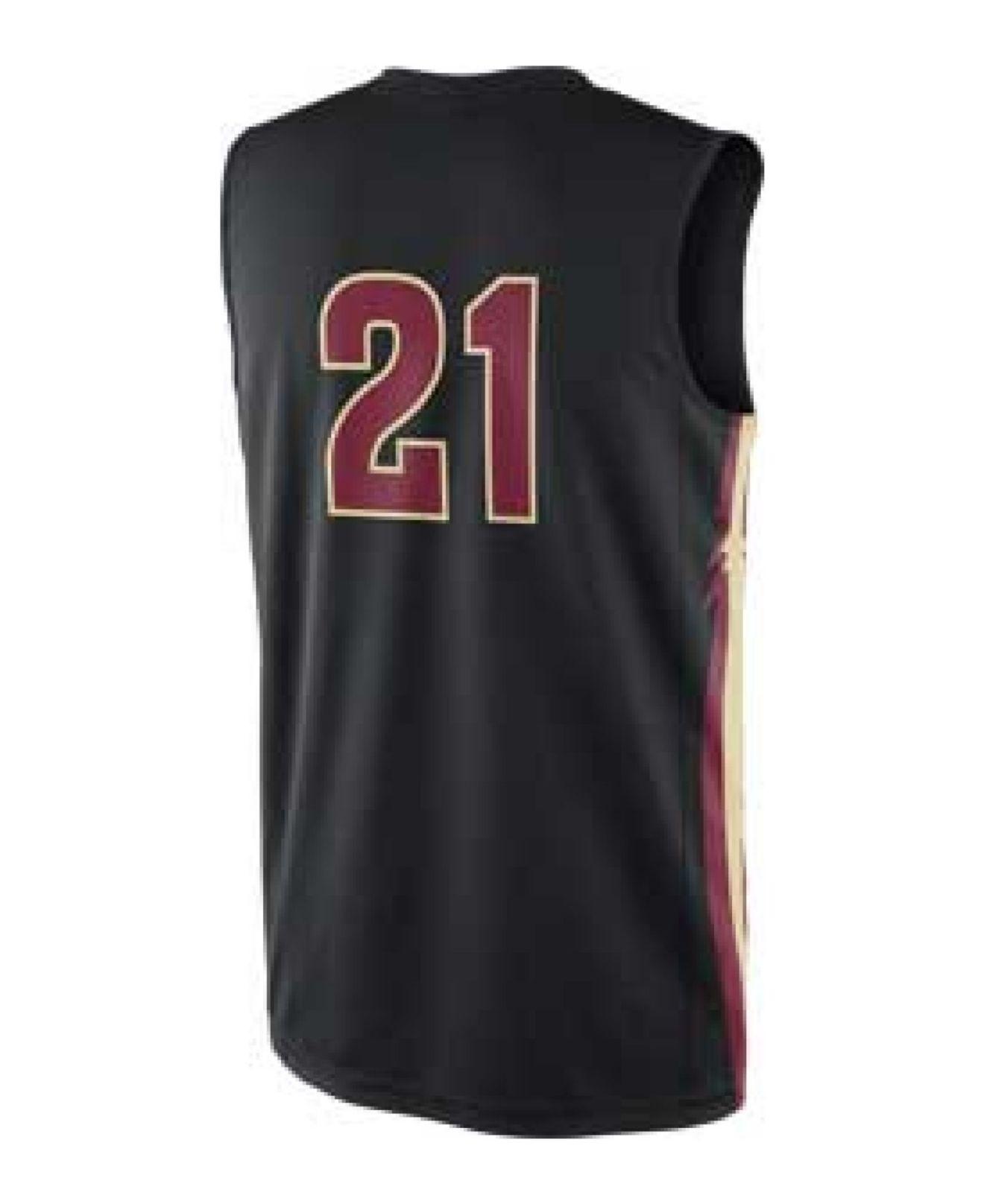 free shipping 3a0b8 7e309 Nike Black Men'S Florida State Seminoles Replica Basketball Jersey for men