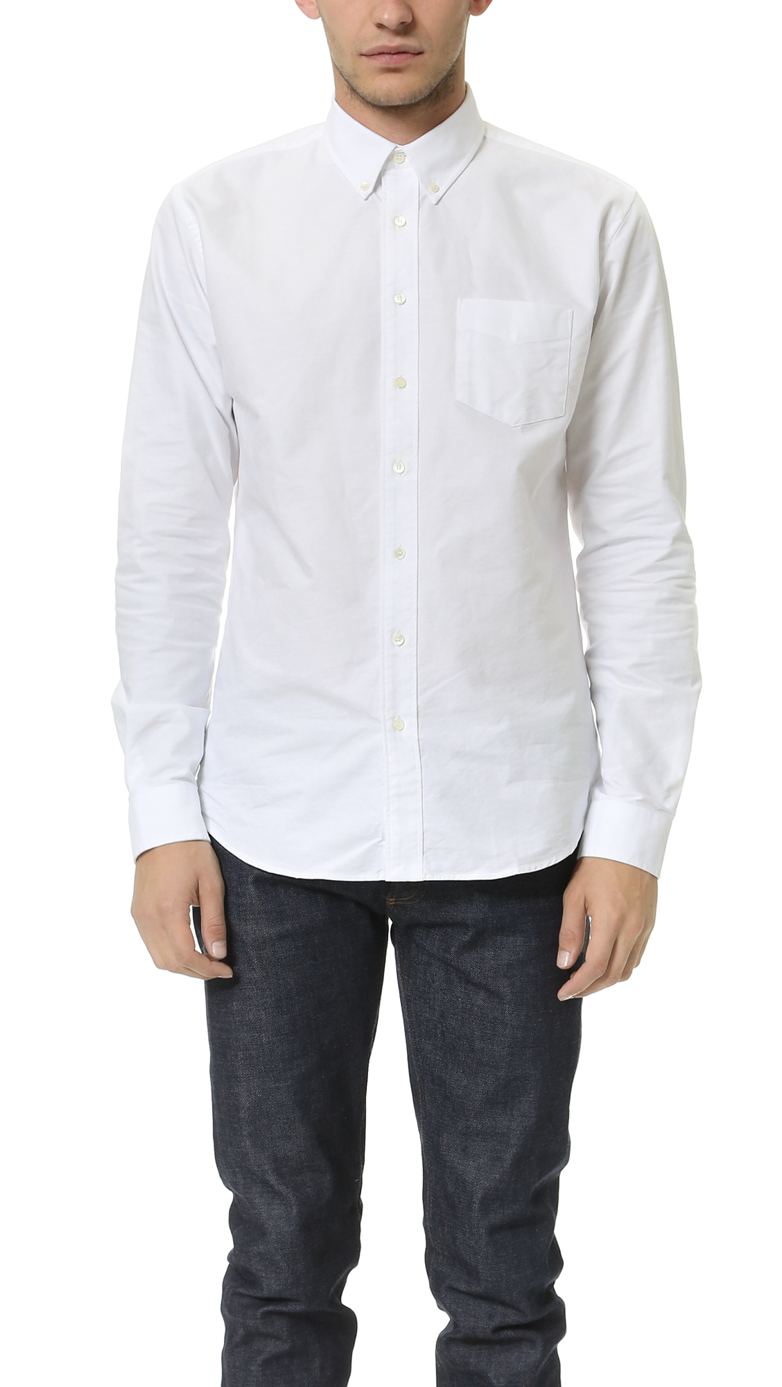 Schnayderman 39 S Oxford One Shirt In White For Men Lyst