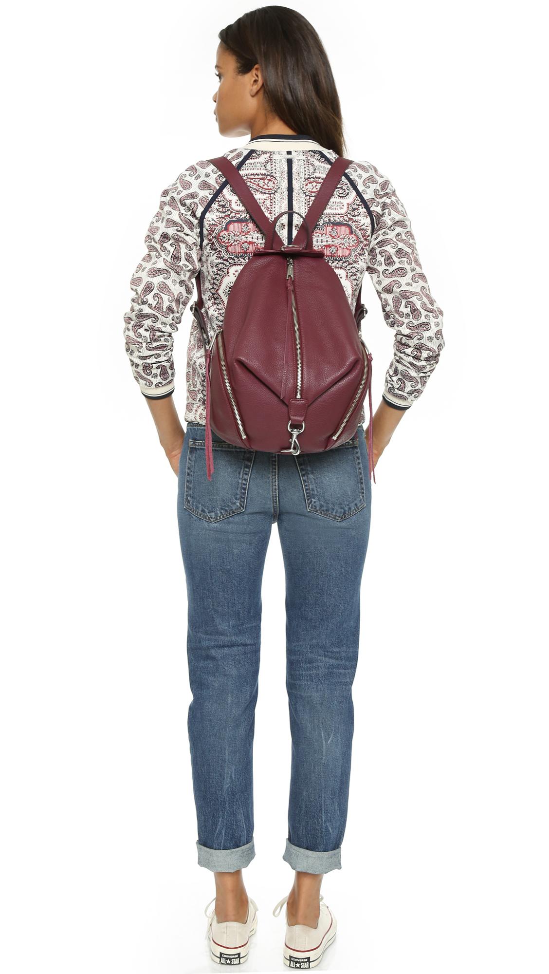 Rebecca Minkoff Julian Backpack - Port in Red