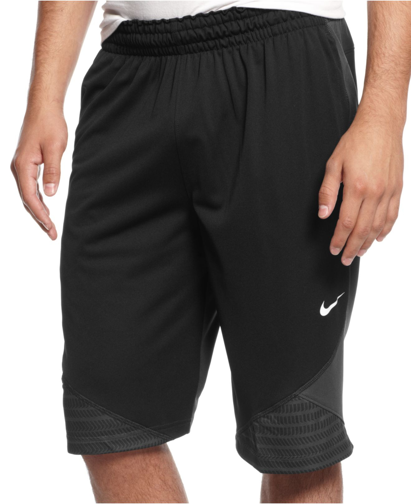 lyst nike lebron chainmaille basketball shorts in black. Black Bedroom Furniture Sets. Home Design Ideas