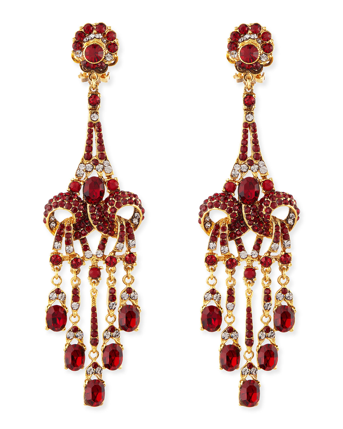 Lyst jose maria barrera gold plated red crystal chandelier clip gallery arubaitofo Choice Image