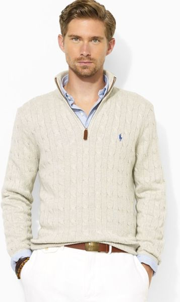 Polo Ralph Lauren Mens Cable Knit Sweater 54