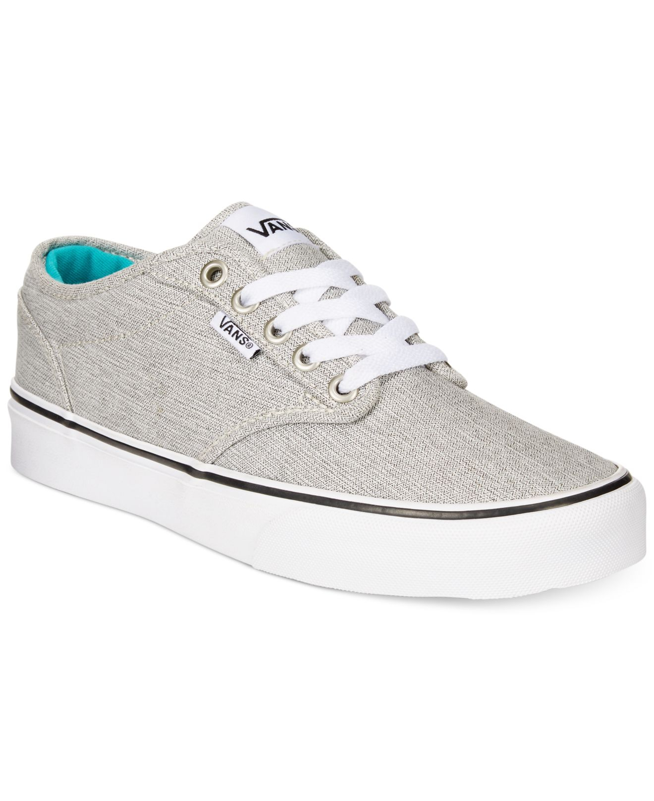 ca14ab3d5adf Lyst - Vans Women s Atwood Lace-up Sneakers in Gray