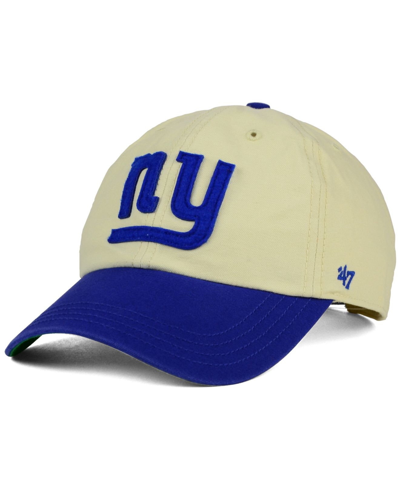 Lyst - 47 Brand New York Giants Horseshoe Clean Up Cap in Natural ... 9fc367fa0