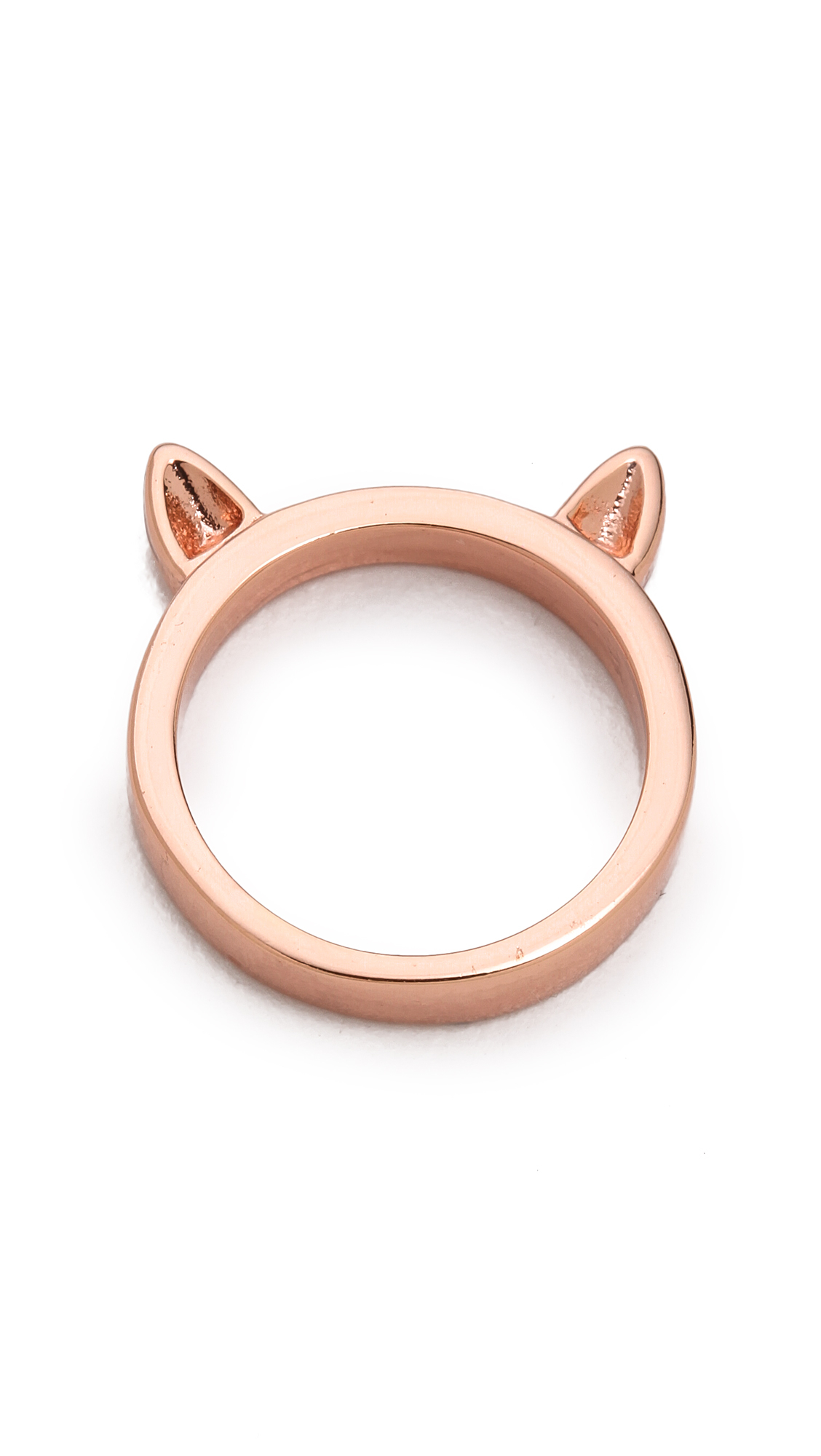 Marc By Marc Jacobs Cat Ears Ring Rose Gold in Metallic