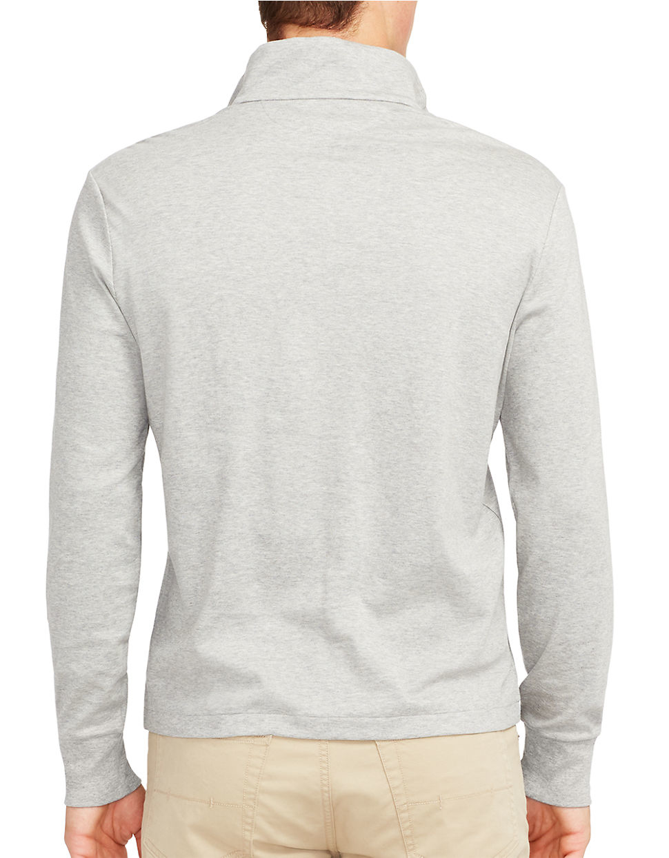 polo ralph lauren pima soft touch pullover in gray for men. Black Bedroom Furniture Sets. Home Design Ideas