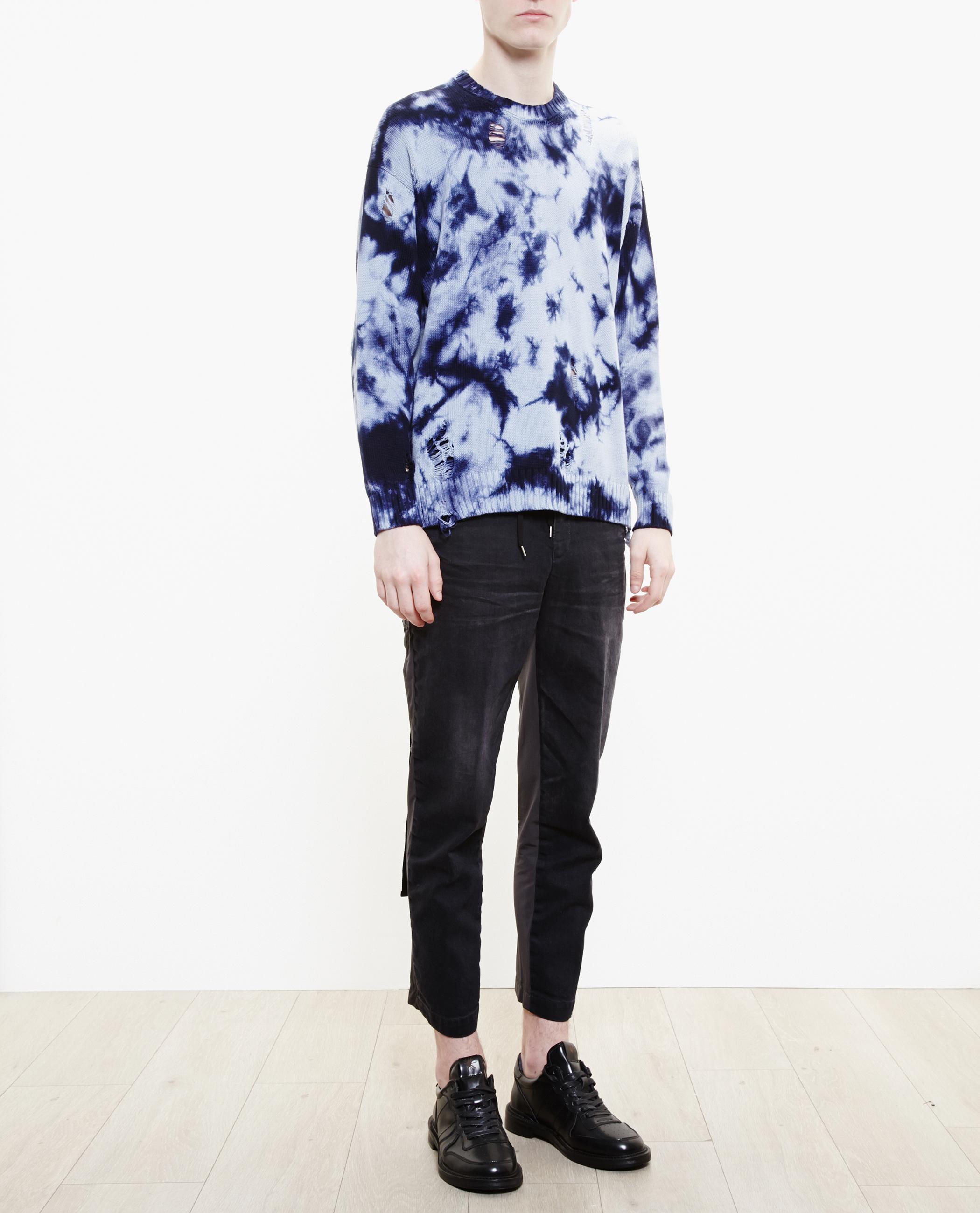 Miharayasuhiro Distressed Tie-dye Jumper in Blue for Men