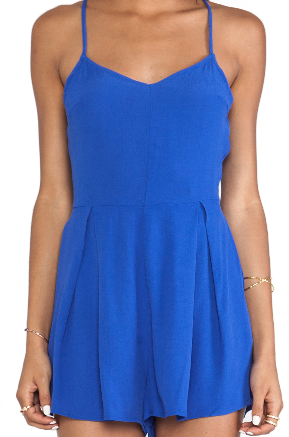 50d04c229c1 Lyst - MINKPINK The Love Cats Playsuit in Blue