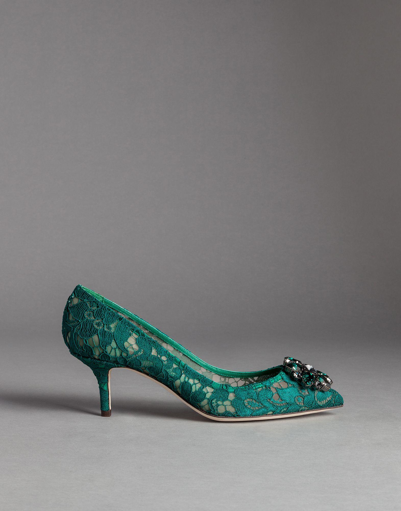 Dolce And Gabbana Green Heels | The Art