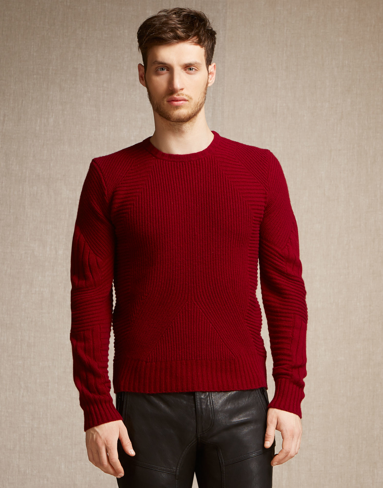 Belstaff Lincefield Jumper In Dark Red Cashmere Blend in Red for ...