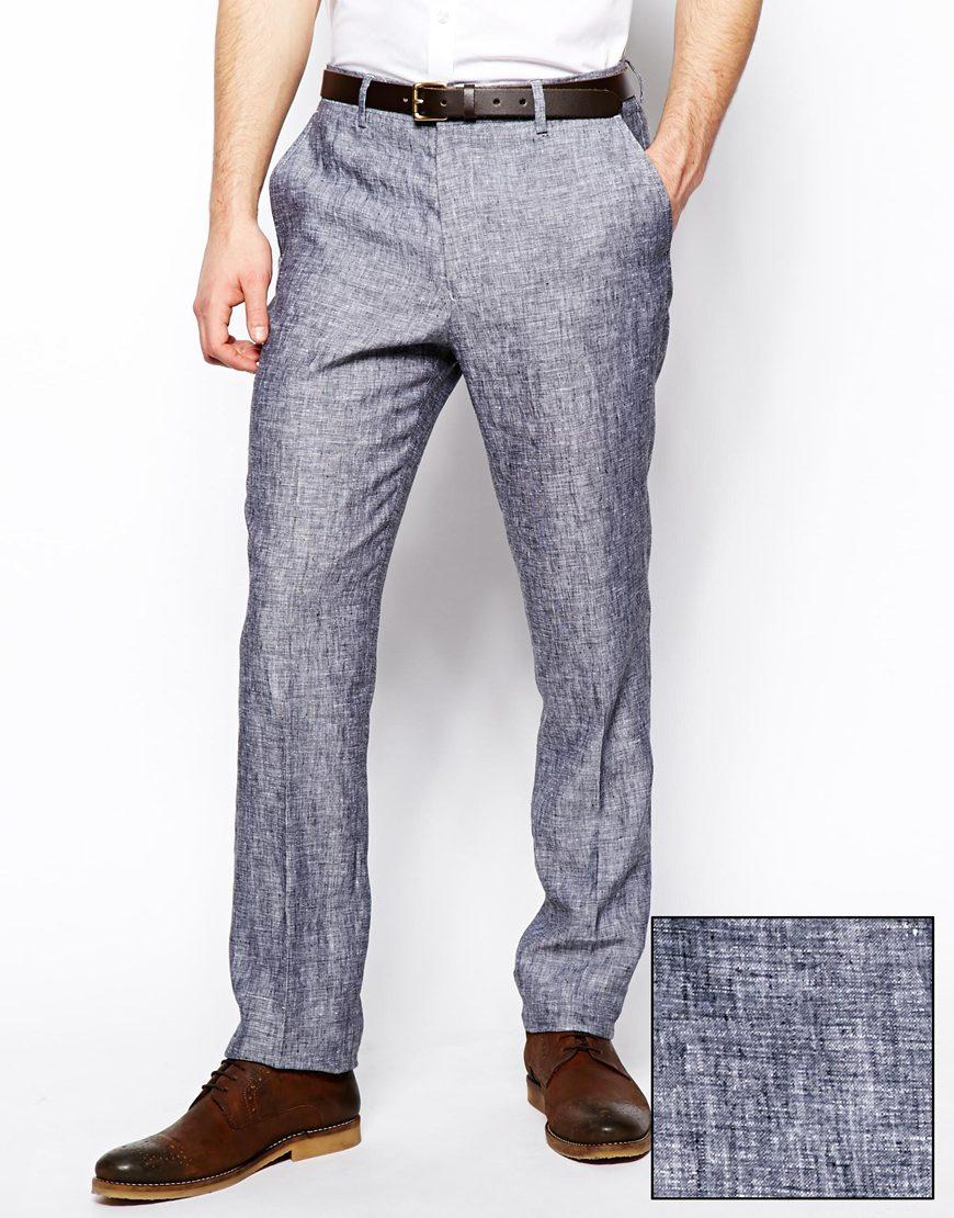 نتيجة بحث الصور عن gray linen pants