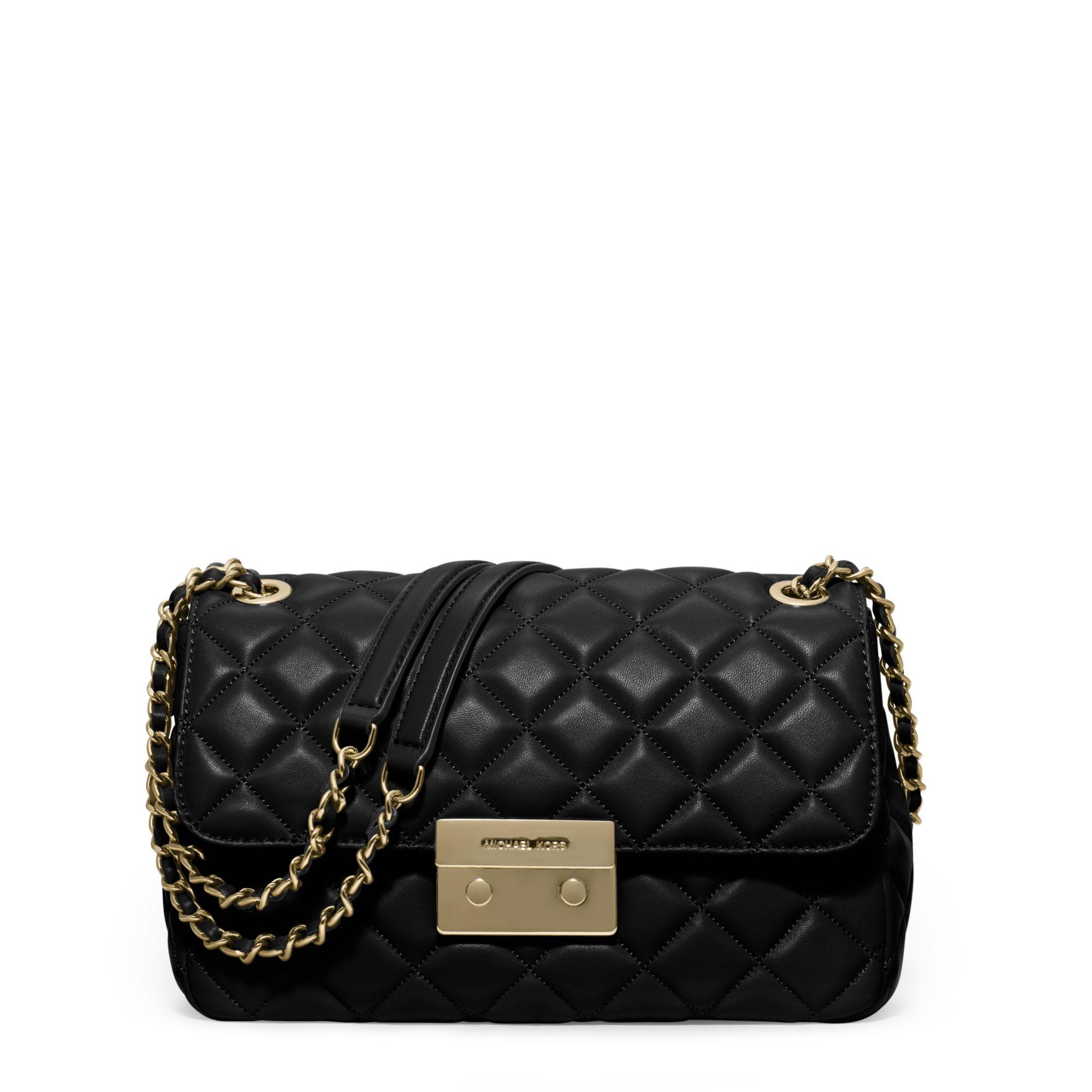 Michael Kors Sloan Large Quilted-leather Shoulder Bag in ...