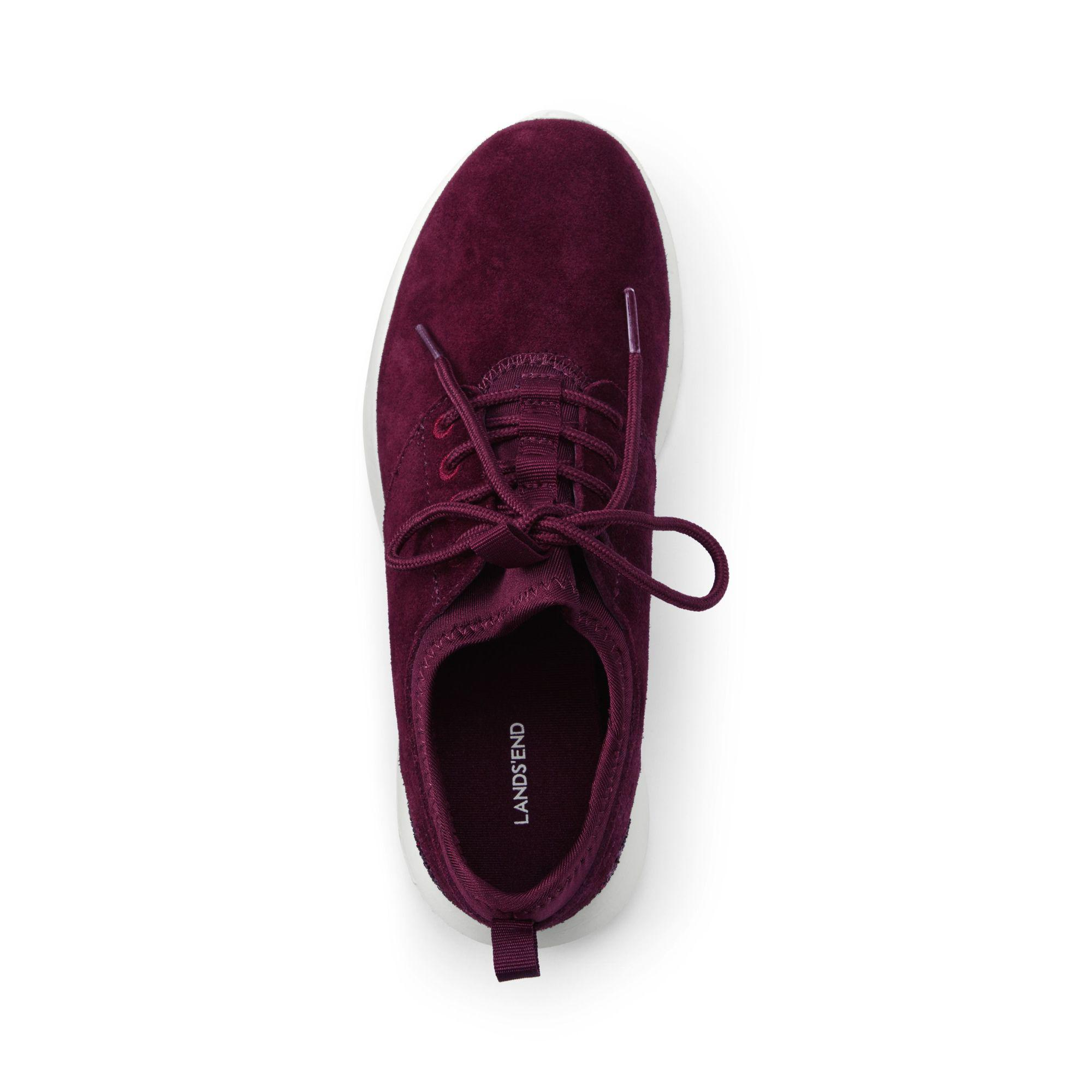 Lands' End Red Lightweight Suede Trainers