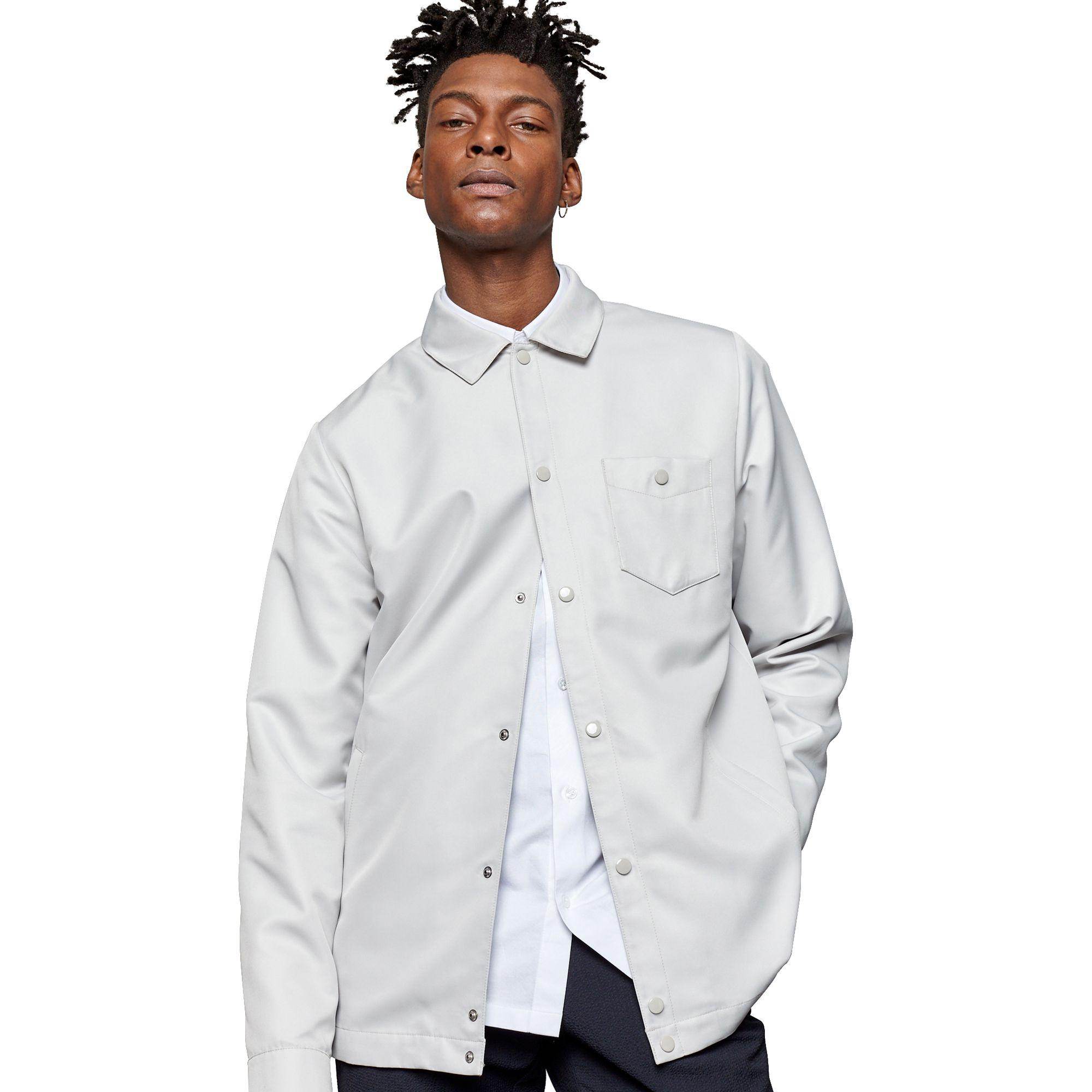 lyst - for love & lemons malmo grey coach jacket in gray for men