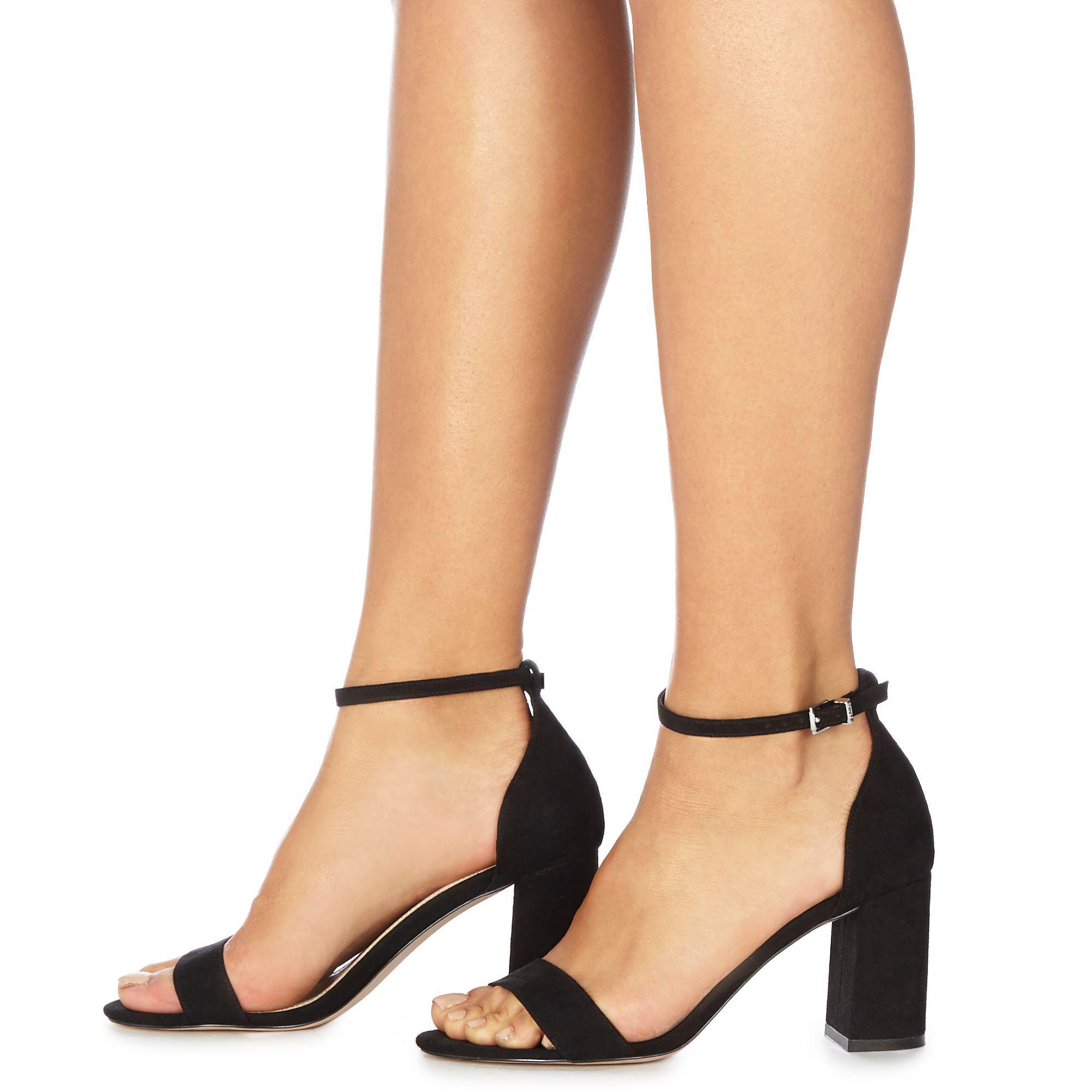 9e0951c27e3 Faith. Women s Black Suedette  demi  High Heel Wide Fit Ankle Strap Sandals