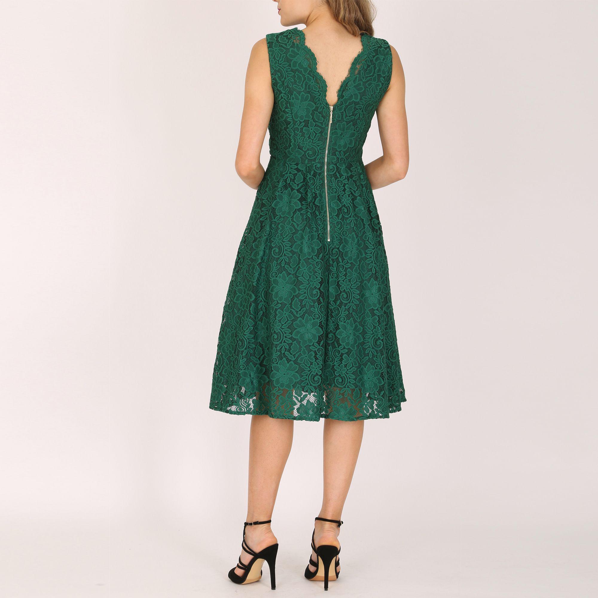4302c53a116ca Jolie Moi Contrast Lace Bonded Shift Dress Cream - SG Solothurn