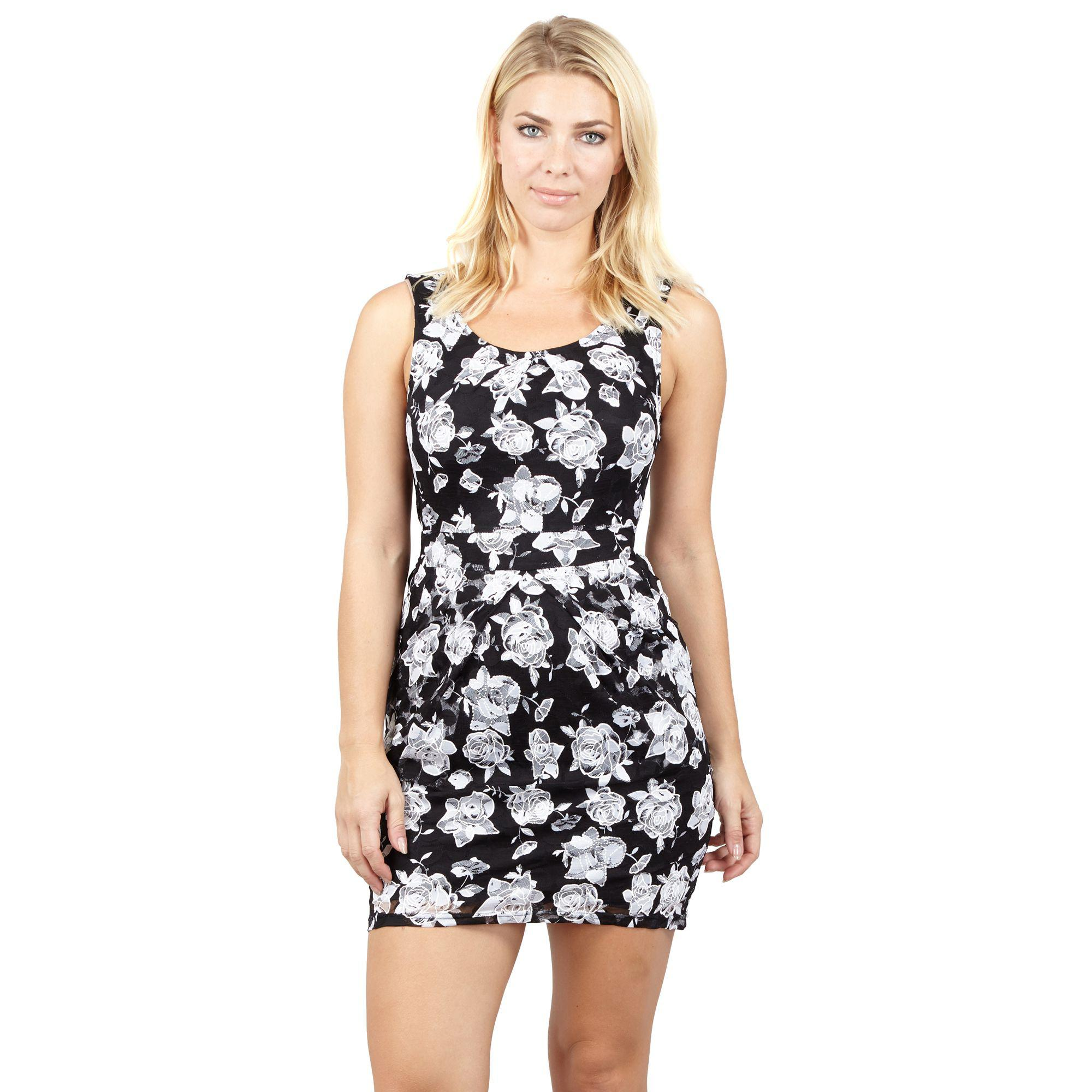 c419ae23ed2 Mela London Navy Floral Vannesa Midi Wrap Dress