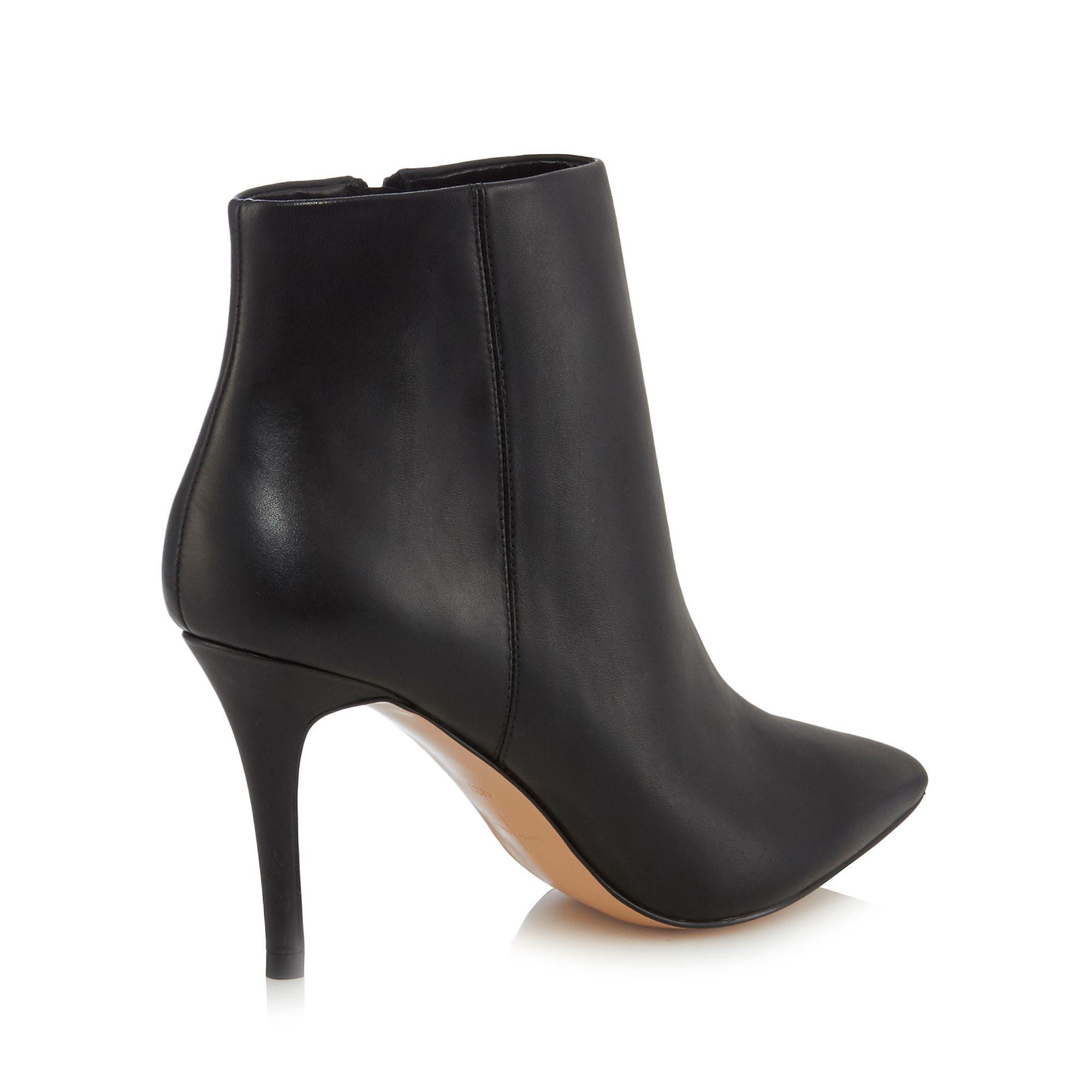 J By Jasper Conran Black Leather 'jordyn' High Stiletto Heel Ankle Boots