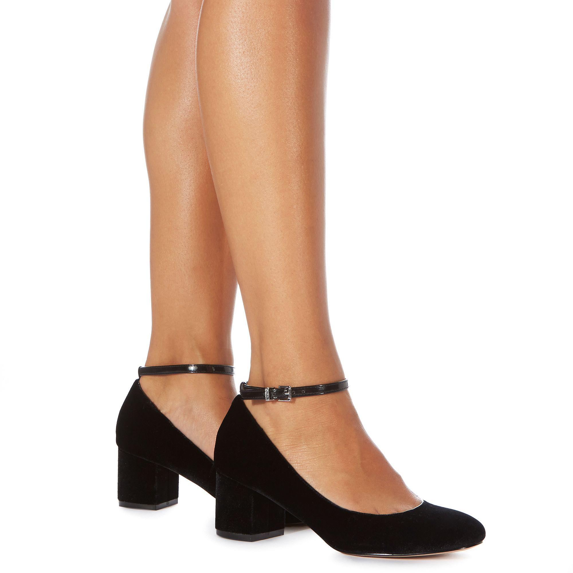Shopping \u003e low block heel black shoes