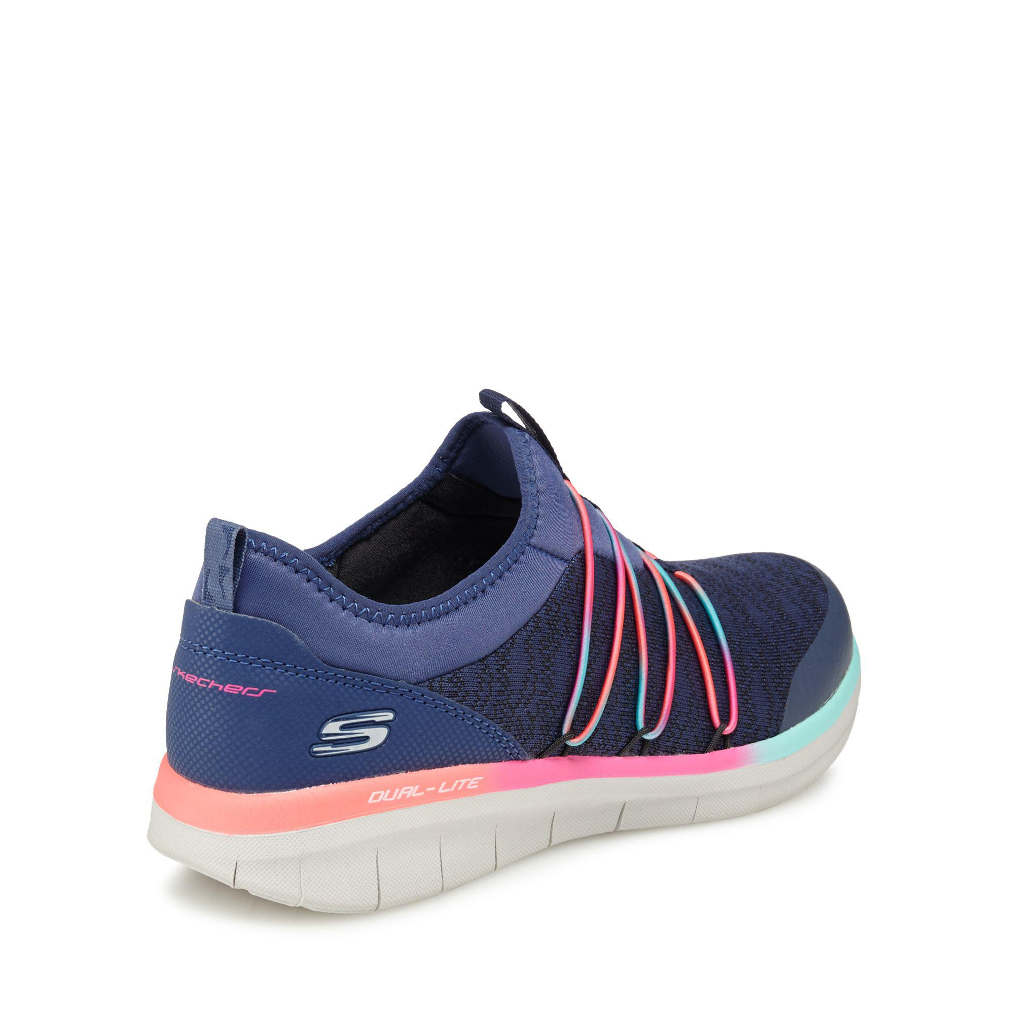 789788e56f05 Skechers Navy Knit  synergy 2.0 Simply Chic  Slip-on Trainers in ...
