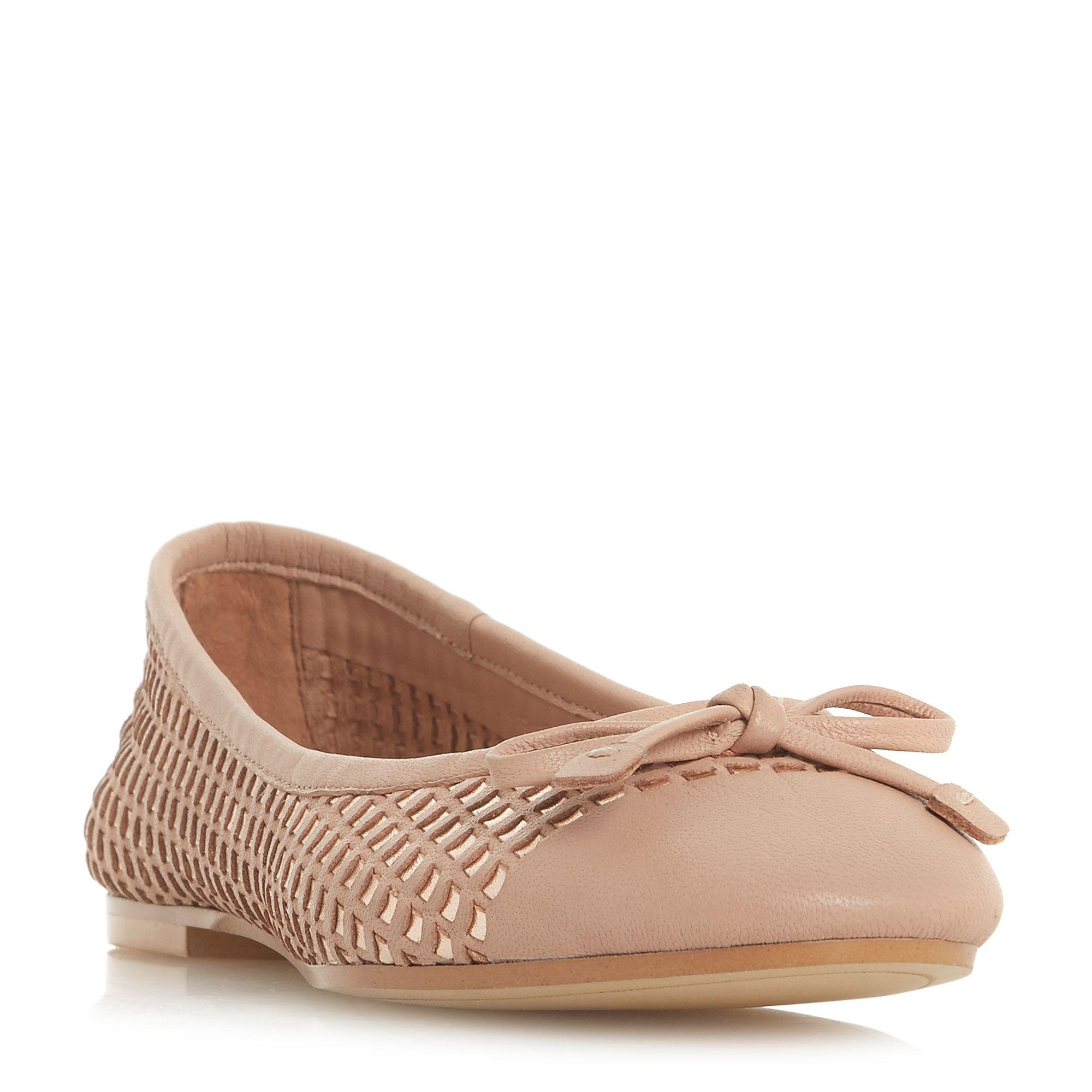 Tan leather 'Hennah' ballet pumps outlet sast TUP447cni