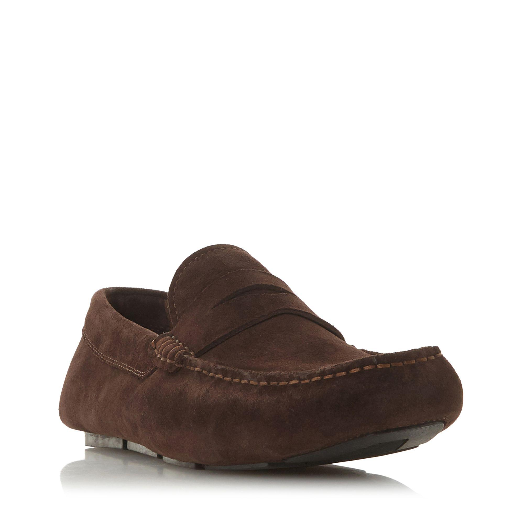 fb019b600 Dune Brown 'balance' Saddle Loafers Shoes in Brown for Men - Lyst