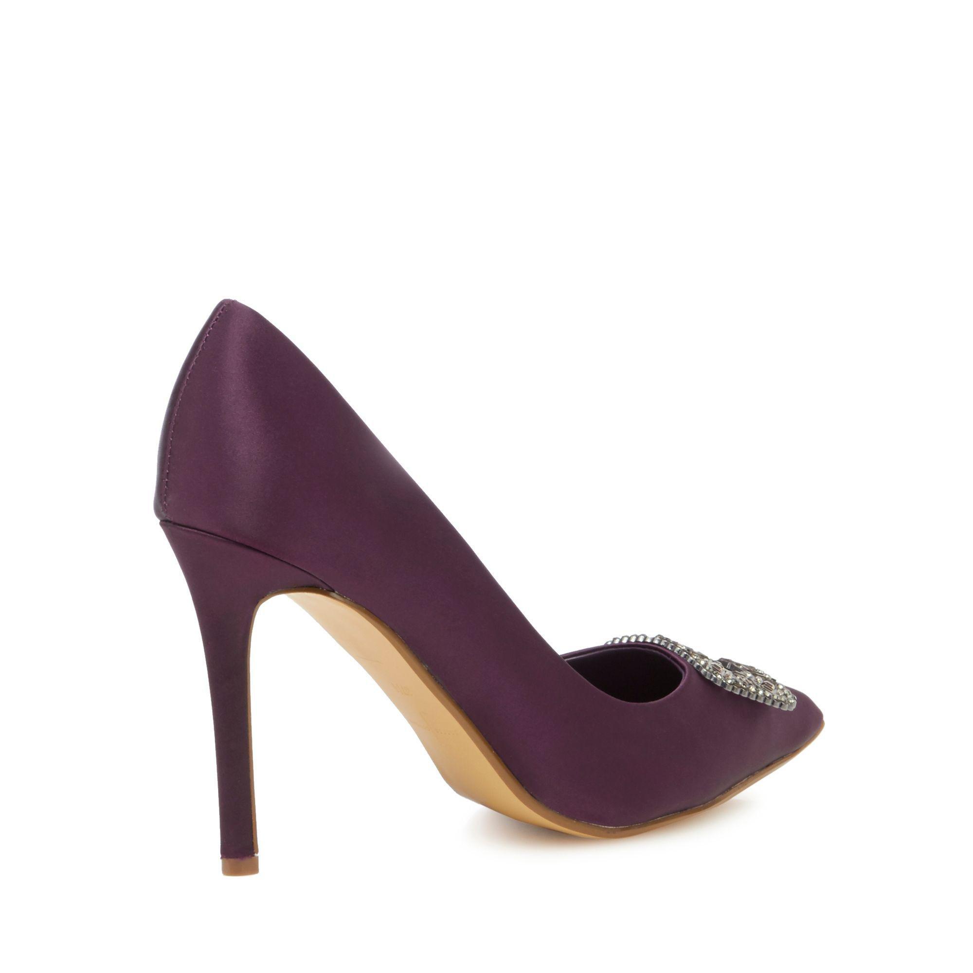 7407b33d28e4a J By Jasper Conran Dark Purple 'jessie' High Stiletto Heel Court ...