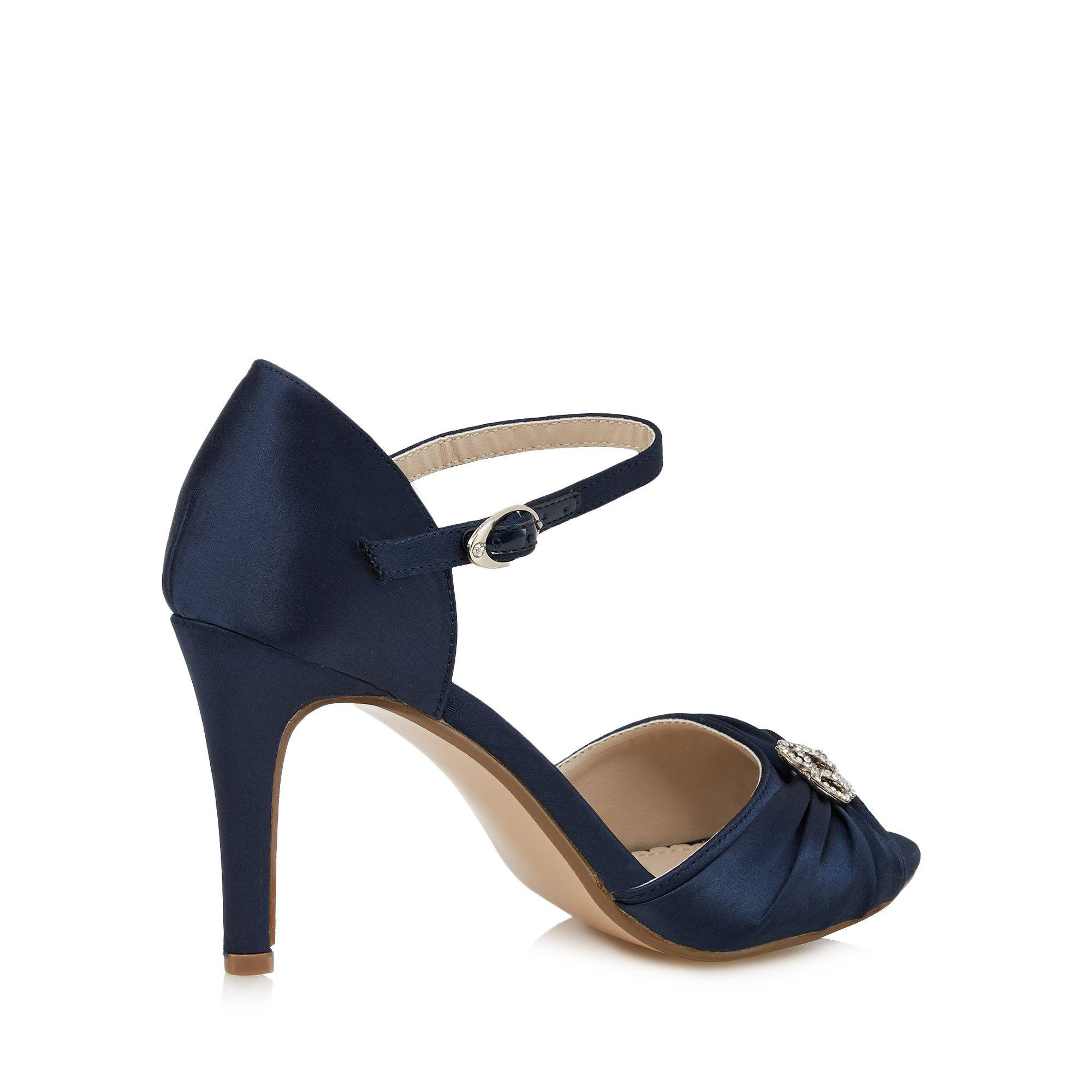 0fa7431f602b Début - Blue Navy High Stiletto Heel Ankle Strap Sandals - Lyst. View  Fullscreen