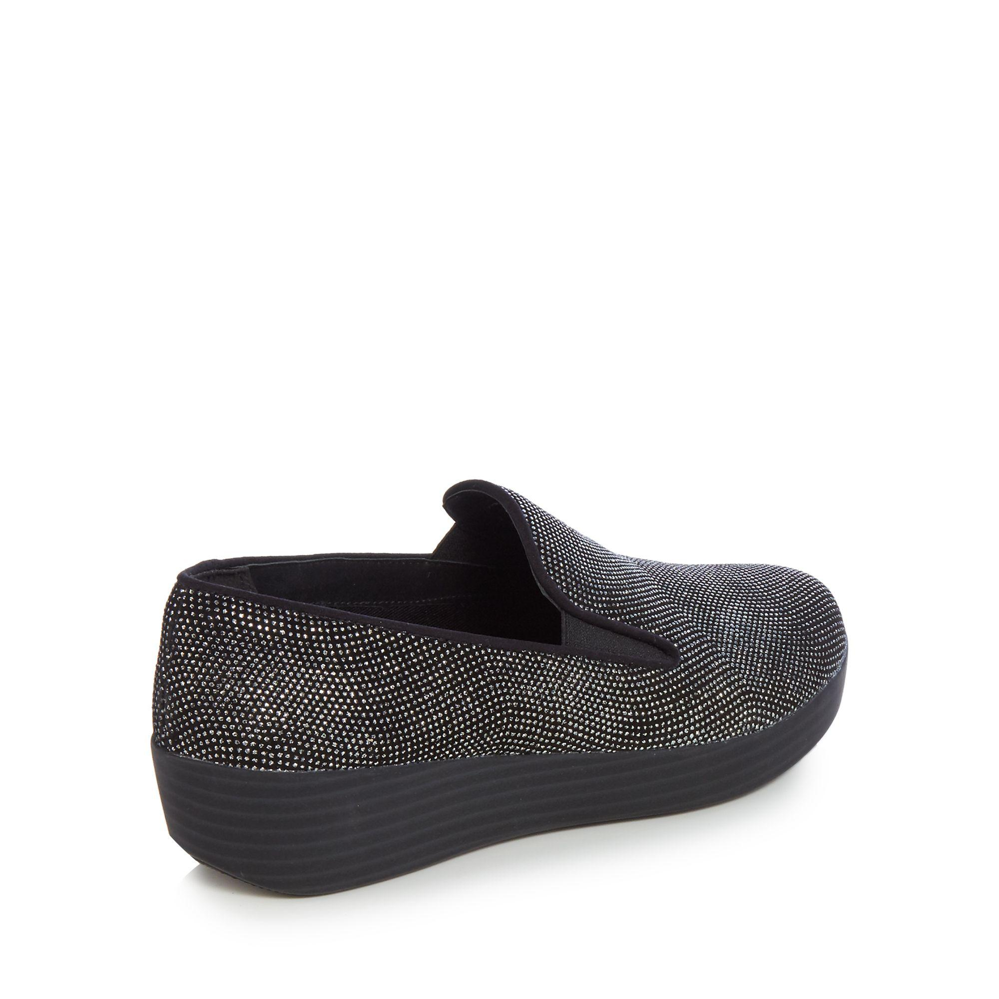 Fitflop Suede Black Superskate Trainers