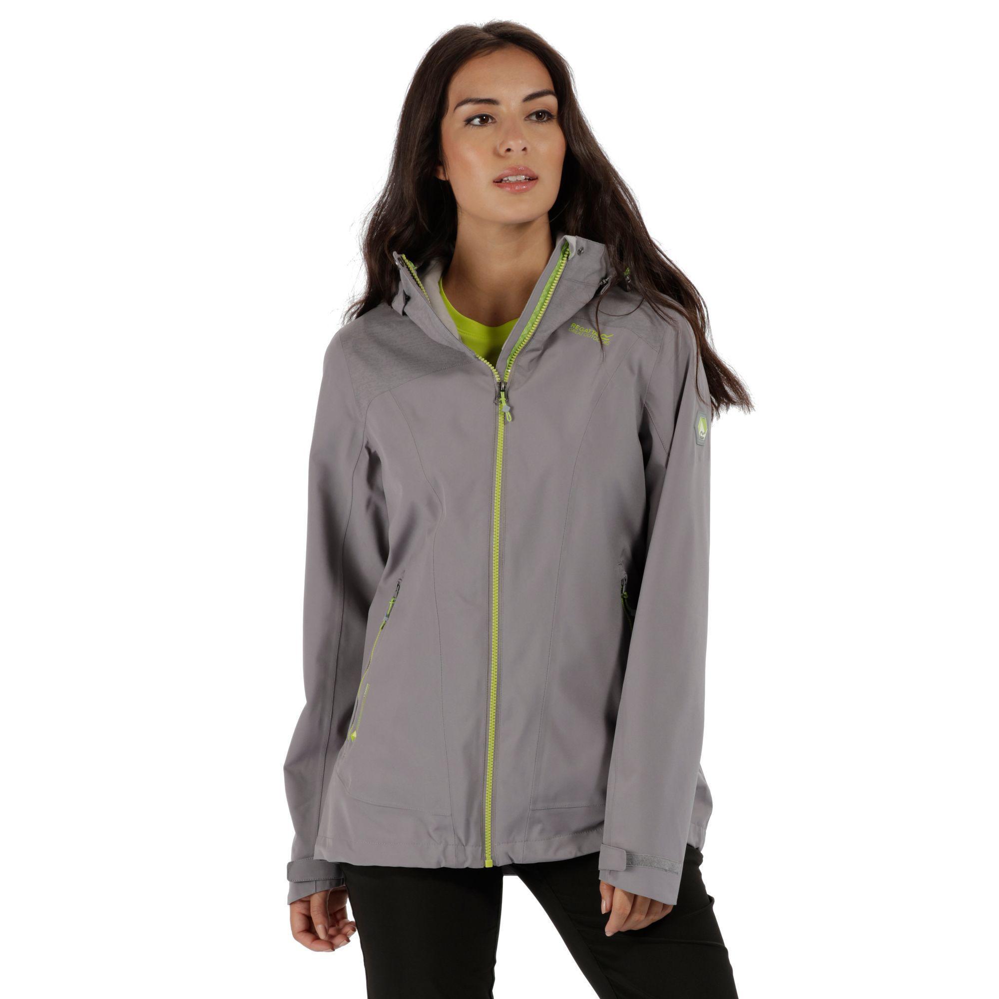 Regatta Ladies Carletta II Waterproof Breathable Walking Jacket Aqua Blue//Grey