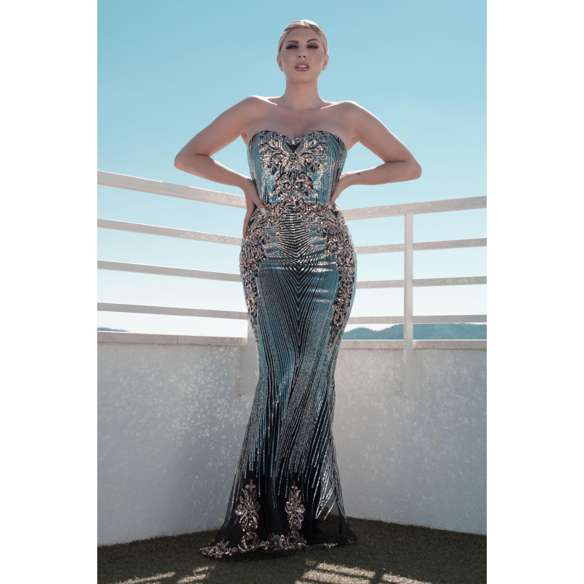 eddfc769bac27 Black And Gold Maxi Dress - raveitsafe
