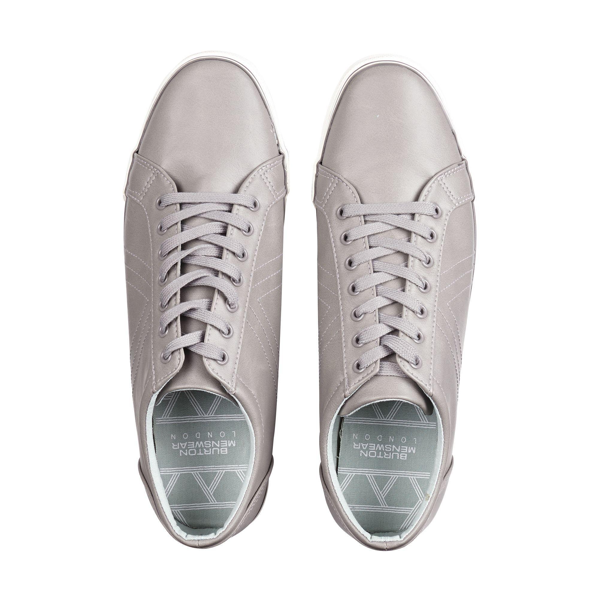 Burton Grey Canvas Trainers in Grey