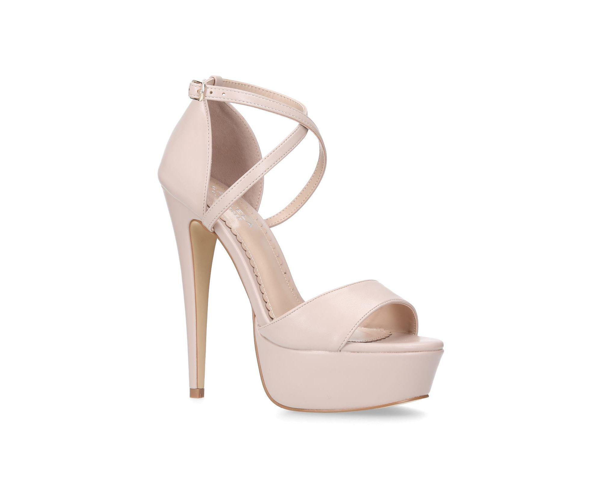 Kurt Sandals Natural Nude Platform 'leap' High Carvela Heel Geiger 8nwkXNOP0