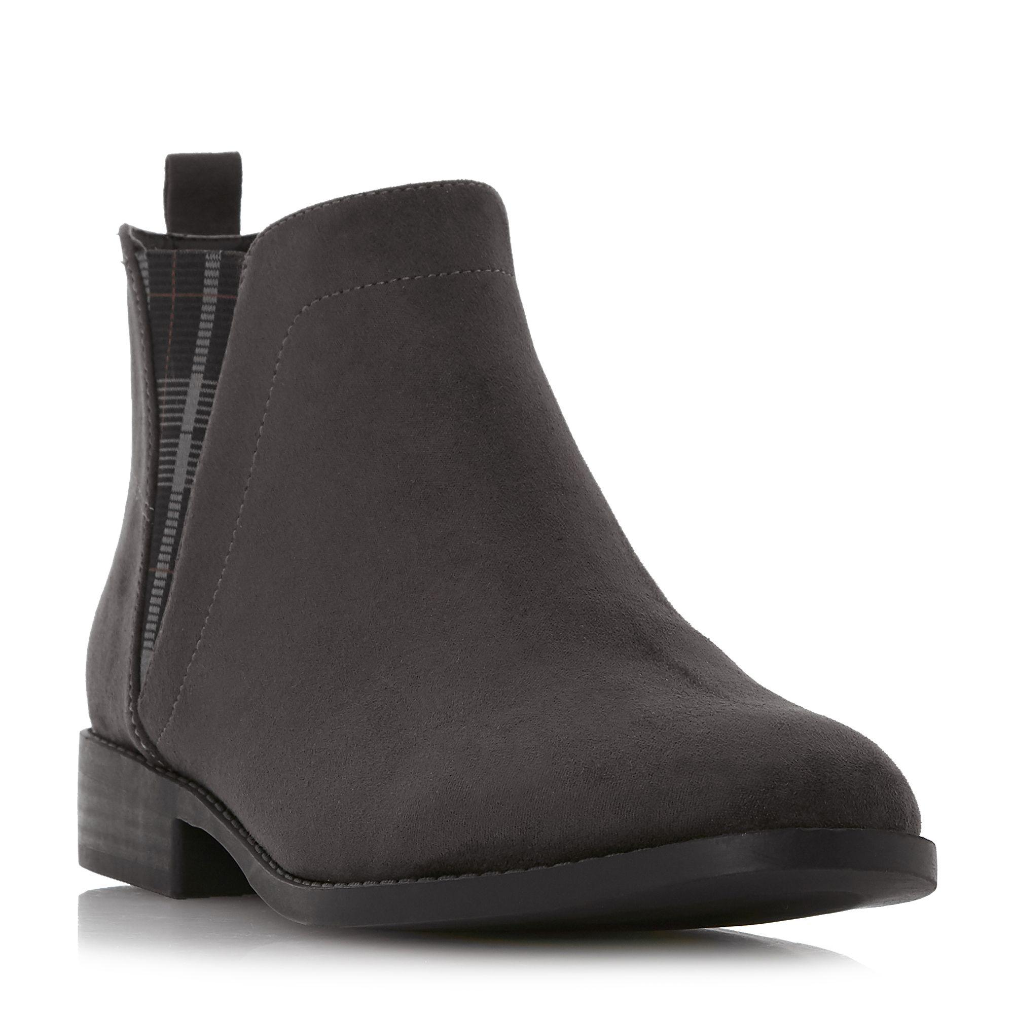 b2d6506ccba Dune Grey 'primma' Block Heel Chelsea Boots in Gray - Lyst