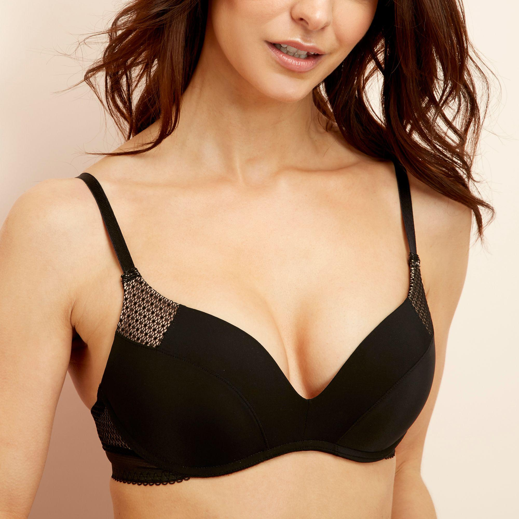 d727146c0762f Wonderbra Black Microfibre  ultimate  Non-wired Padded Push-up T ...