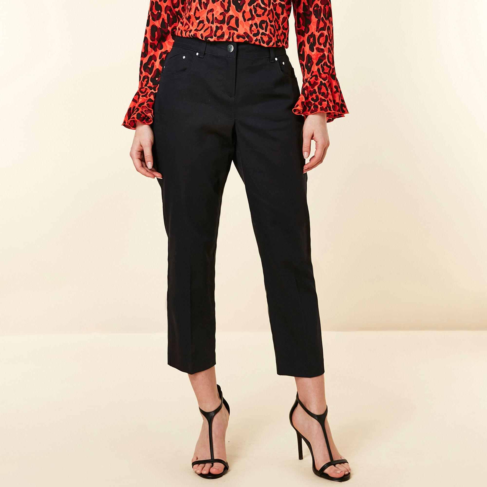 elegant shoes cheap for discount top brands Wallis Cotton Petite Navy Stretch Cropped Trouser in Blue - Lyst