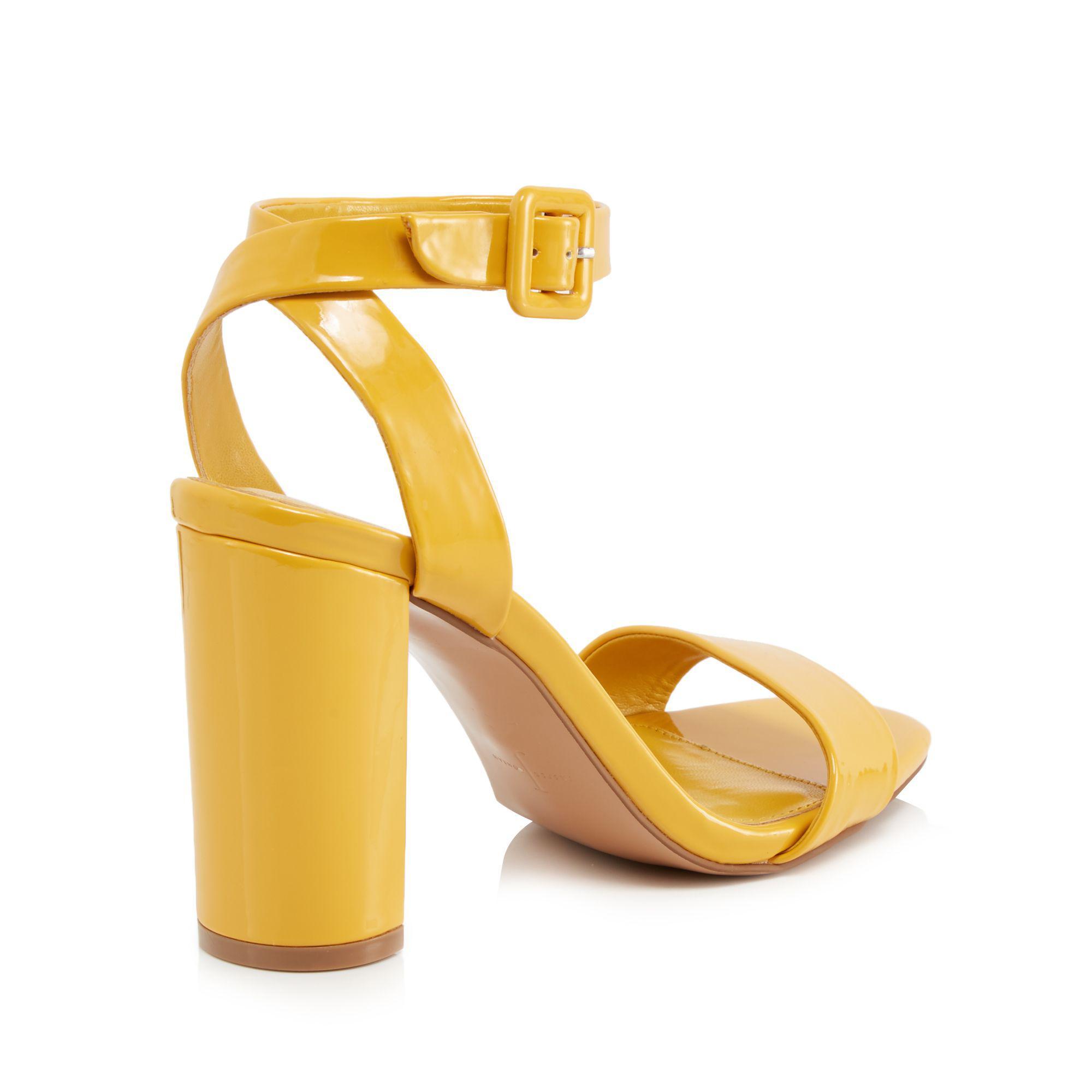 4c7555dfb21d J By Jasper Conran Yellow Patent  jessica  High Block Heel Ankle ...