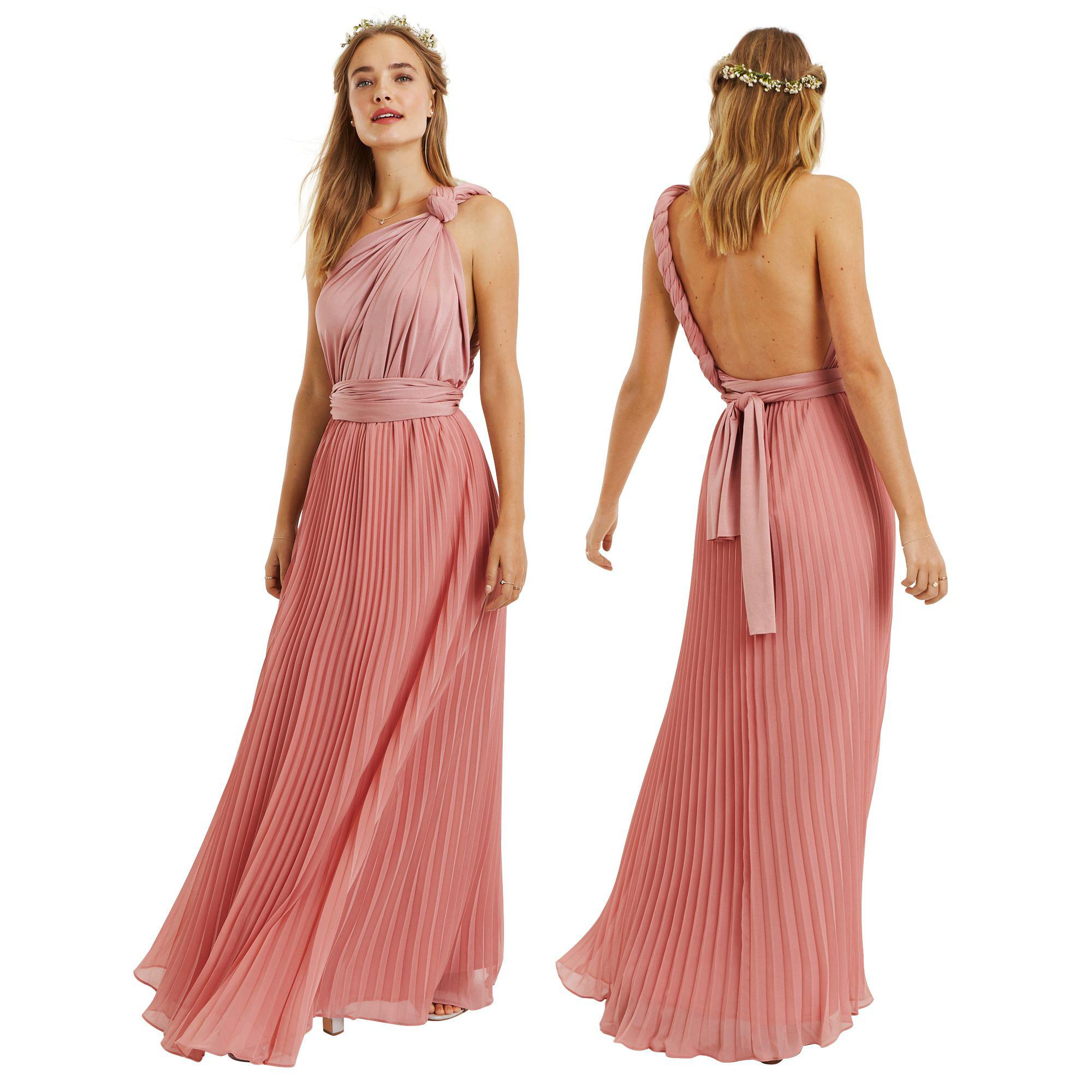 79d7b18589f2 Oasis - Pale Pink Wear It Your Way Pleated Maxi Dress - Lyst. View  fullscreen