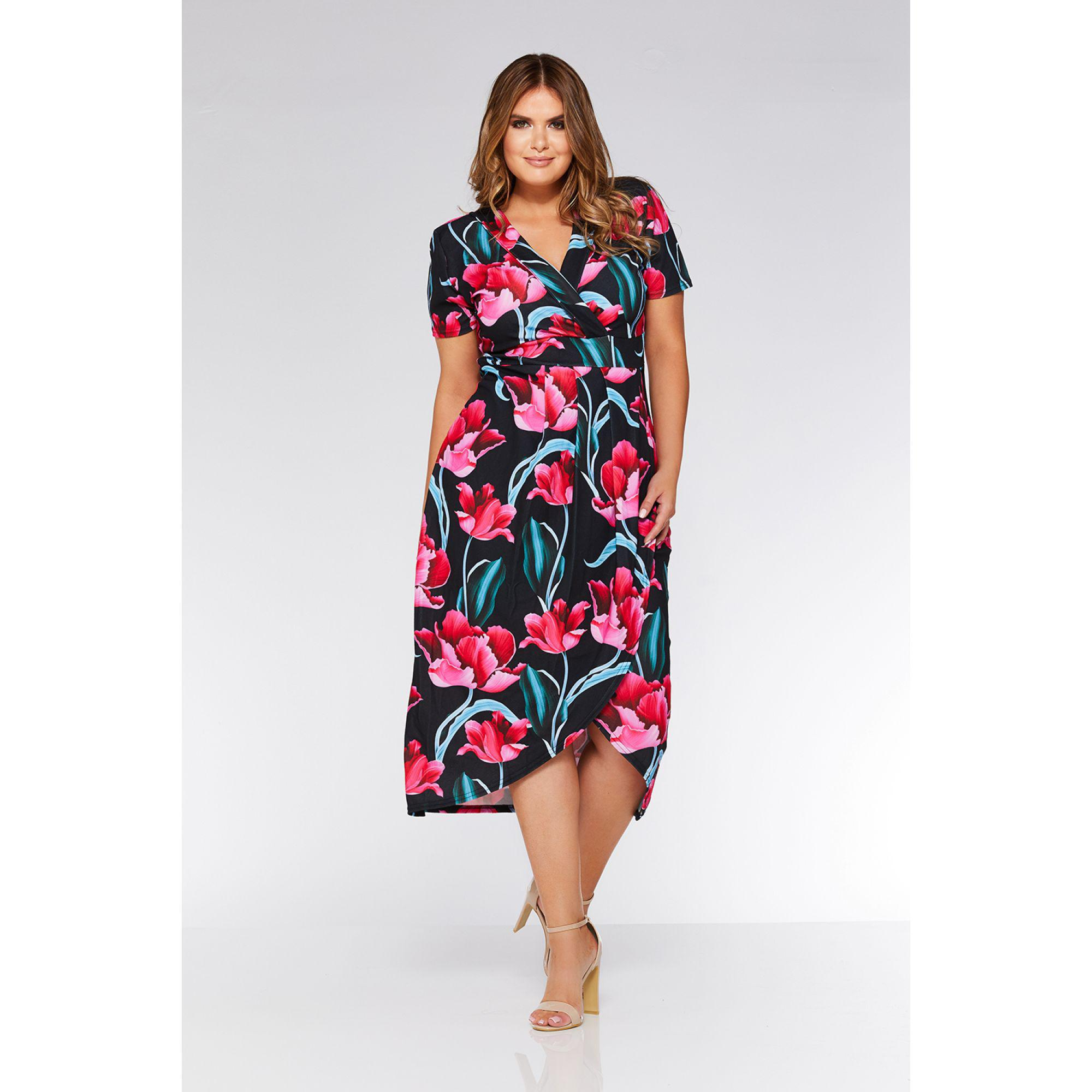 adaf6faa66 Quiz Black Flower Print Midi Dress - Gomes Weine AG