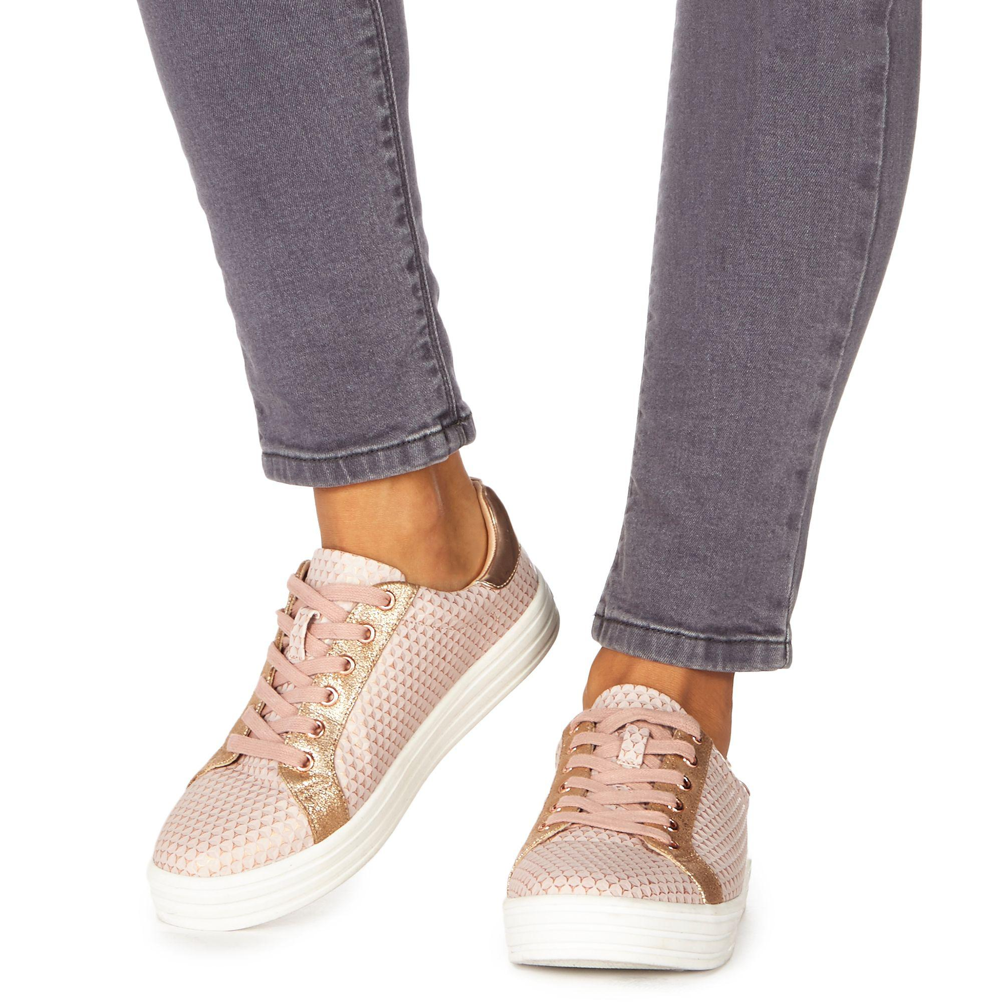 Pink 'Kem' lace up trainers free shipping newest 1U4hK