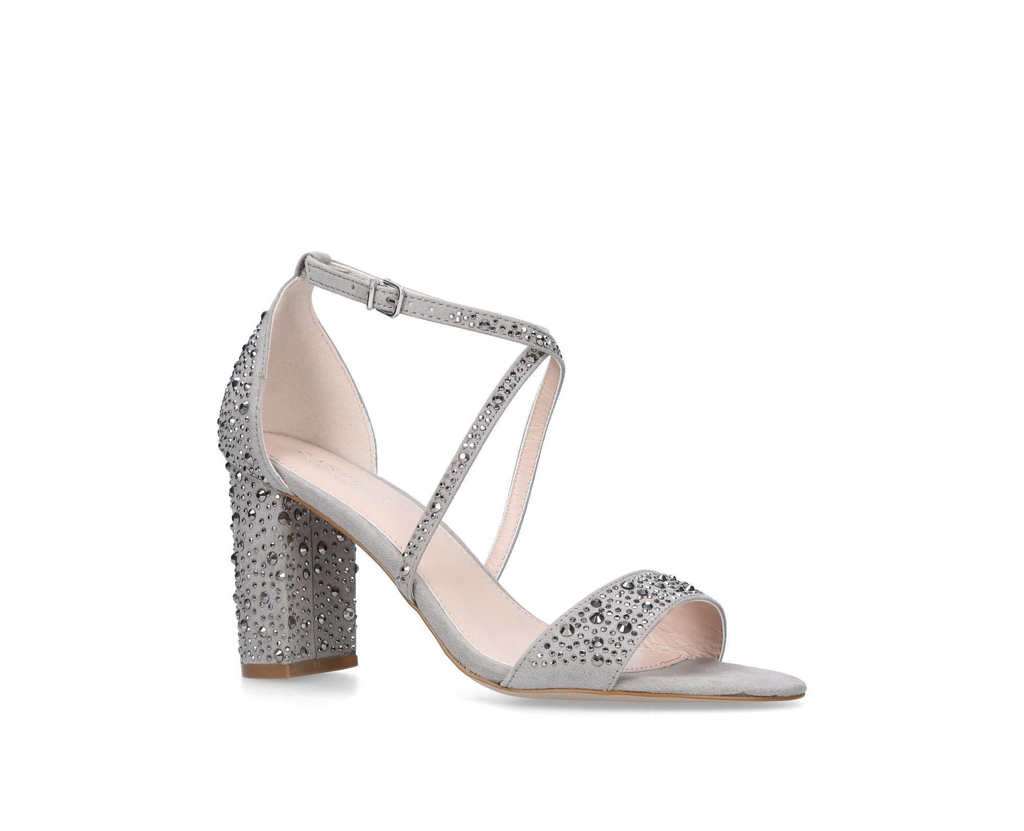 1a868f0f922 Carvela Kurt Geiger Grey  loyalty  Mid Heel Sandals in Gray - Lyst