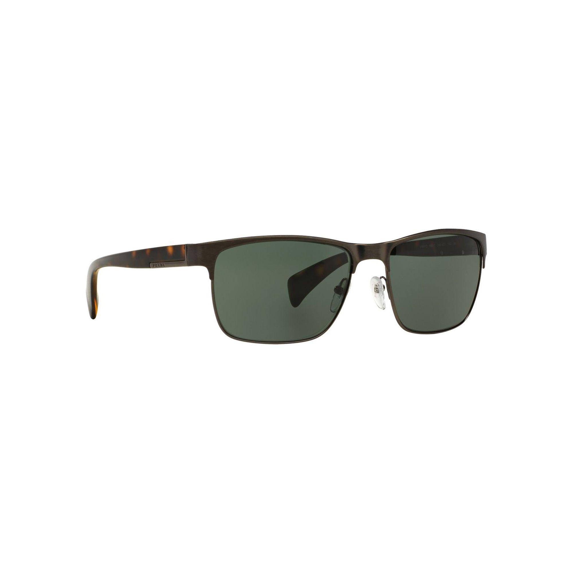 f9533fc541 ... cheap prada gunmetal rectangle pr 51os sunglasses in gray for men lyst  04927 ec06c