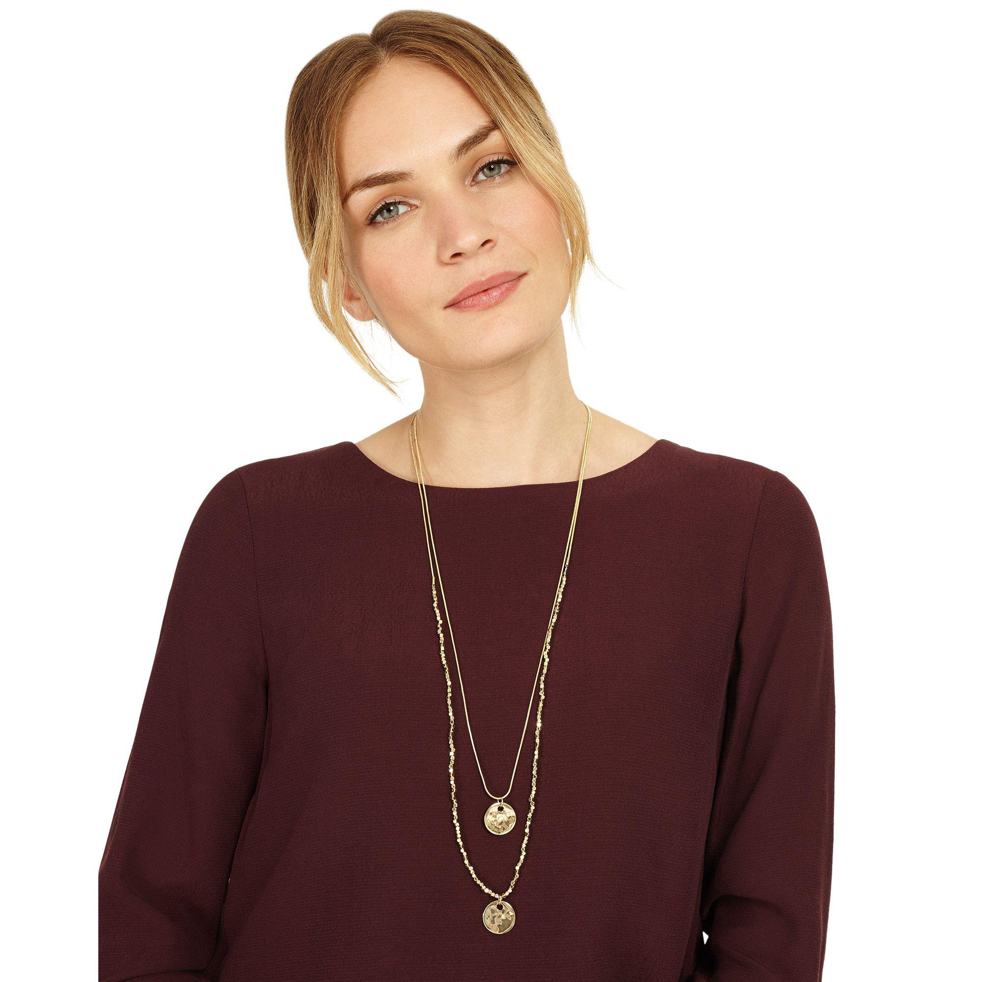 Phase Eight Gold Tiana Necklace in Metallic